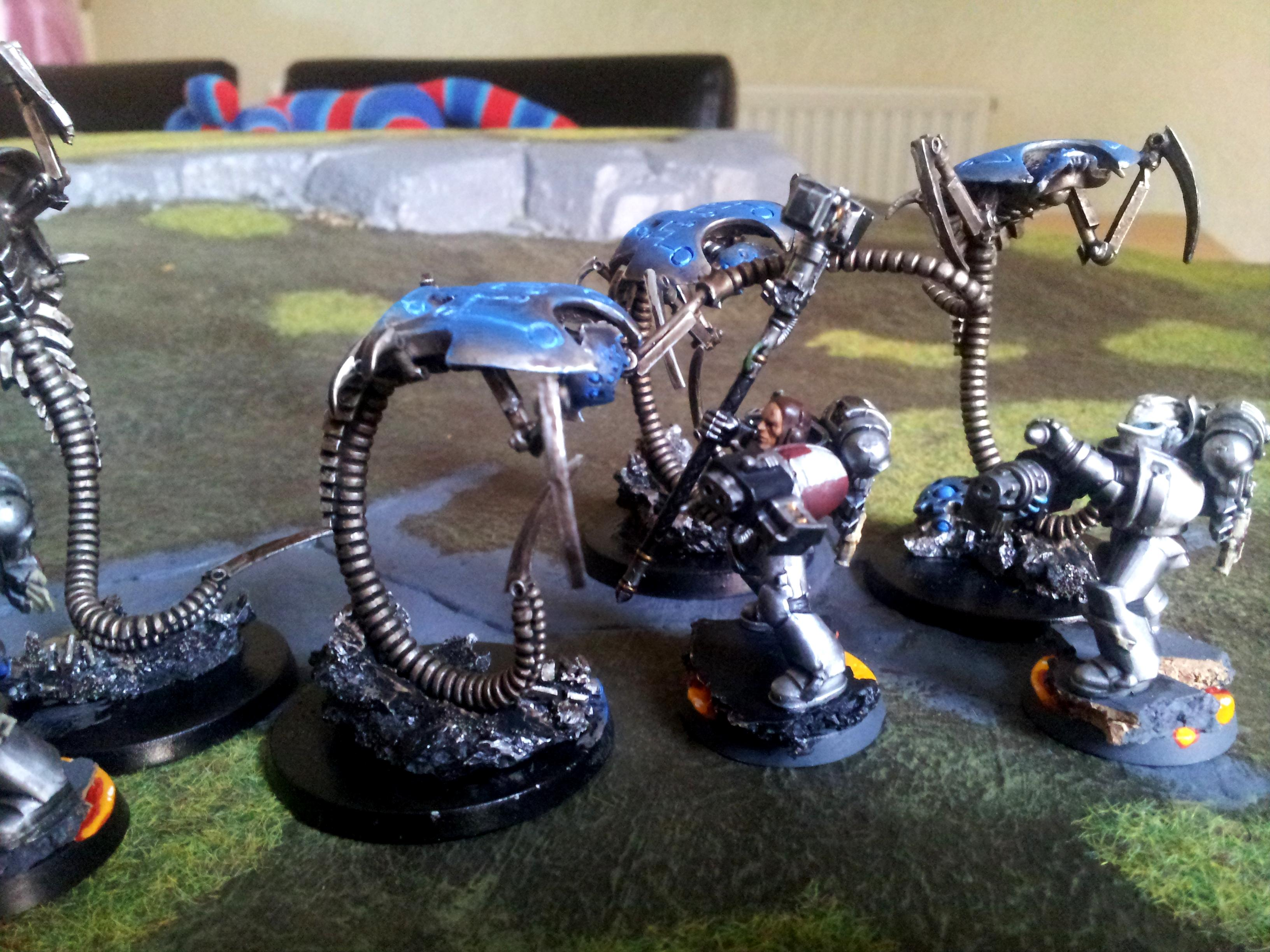 Battle, Game Table, Grey, Knights, Necrons, Report, Space, Space Marines, Top, Warhammer 40,000, Wraith