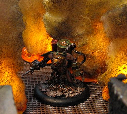 Bioshock, Burning, Fire, Hans The Hunter, Incursion Minis, LED