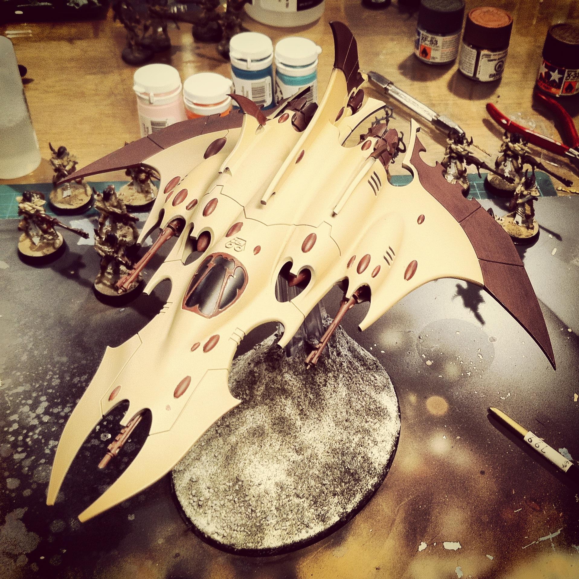 Dark Eldar, Painting, Razorwing, Work In Progress
