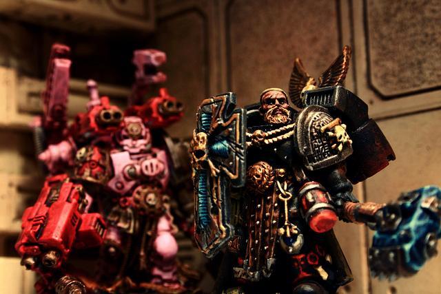 Deathwatch, Pink, Space Marines, Techmarine, Warhammer 40,000