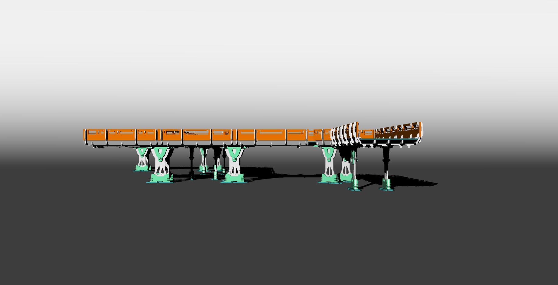 Bridge, Cad, Infinity, Structure, Terrain, Warhammer 40,000