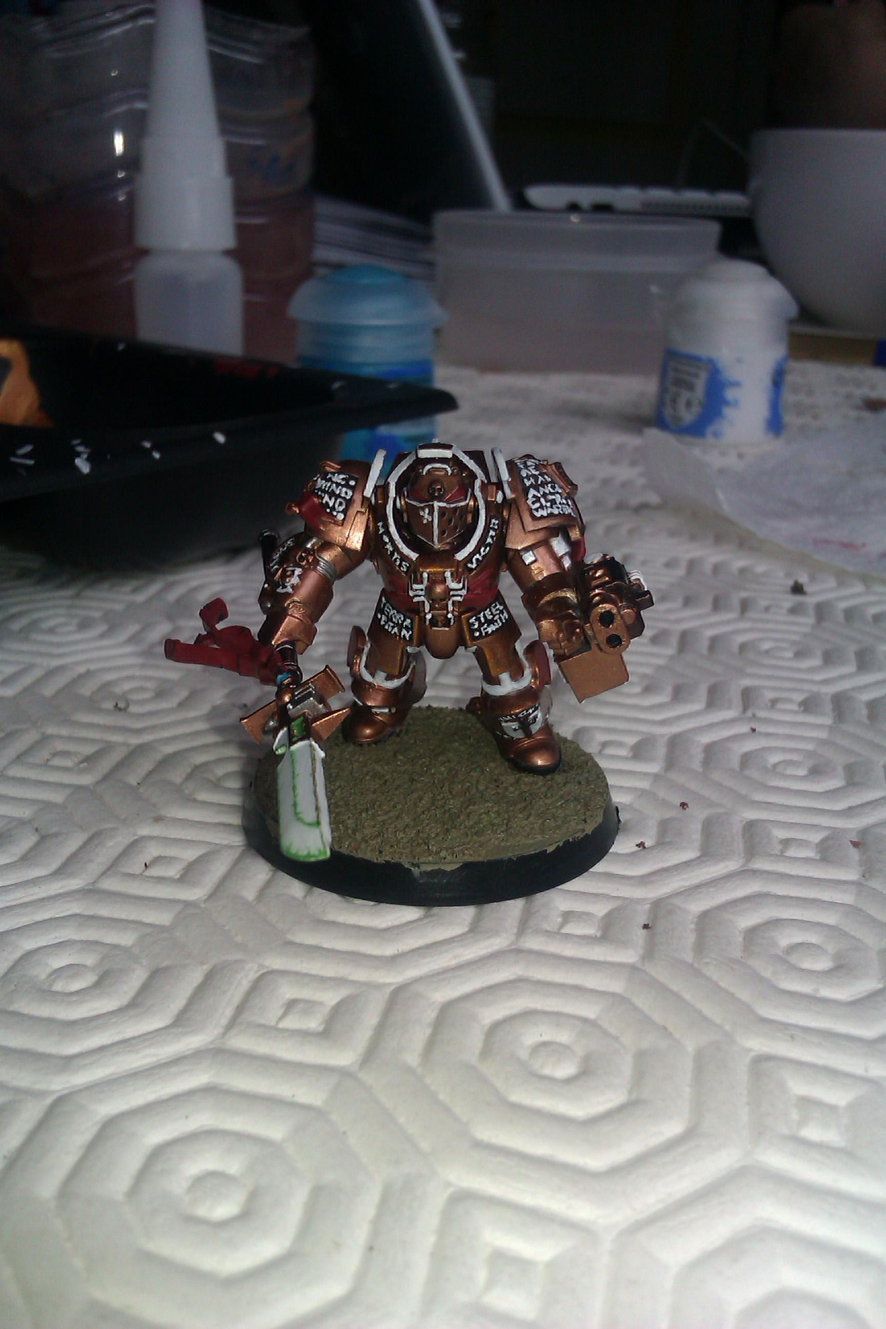 Bronze, Cool, Force Weapon, Grey Knights, Painted, Terminator Armor