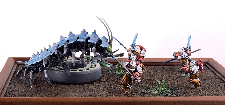 Blood Angels, Diorama, Necrons, Tomb Stalker, Warhammer 40,000