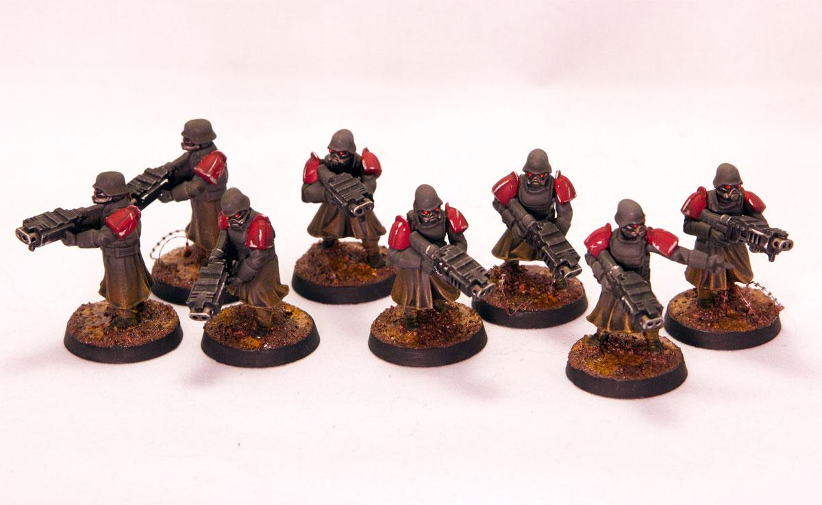 Great Coats, Henchmen, Inquisition, Shock Troops, Storm Bolter, Wargames Factory