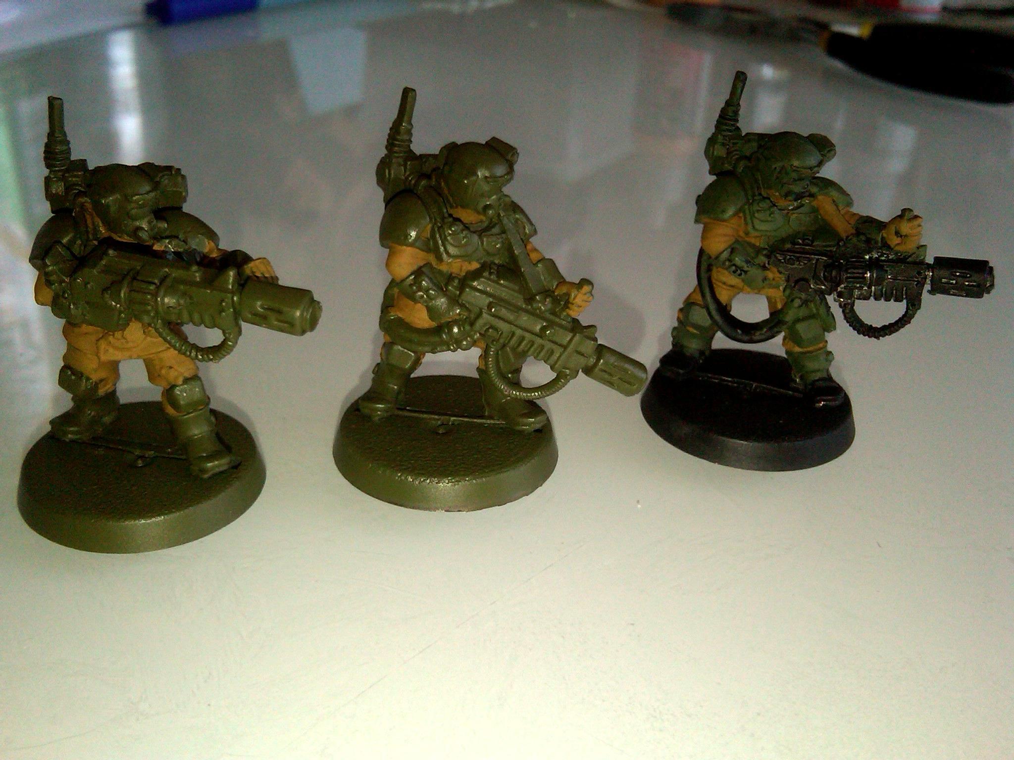8th, Cadians, Carapace, Cut, Imperial Guard, Kasrkin, Meltagun, Metal, Sergeant, Squad, Veteran