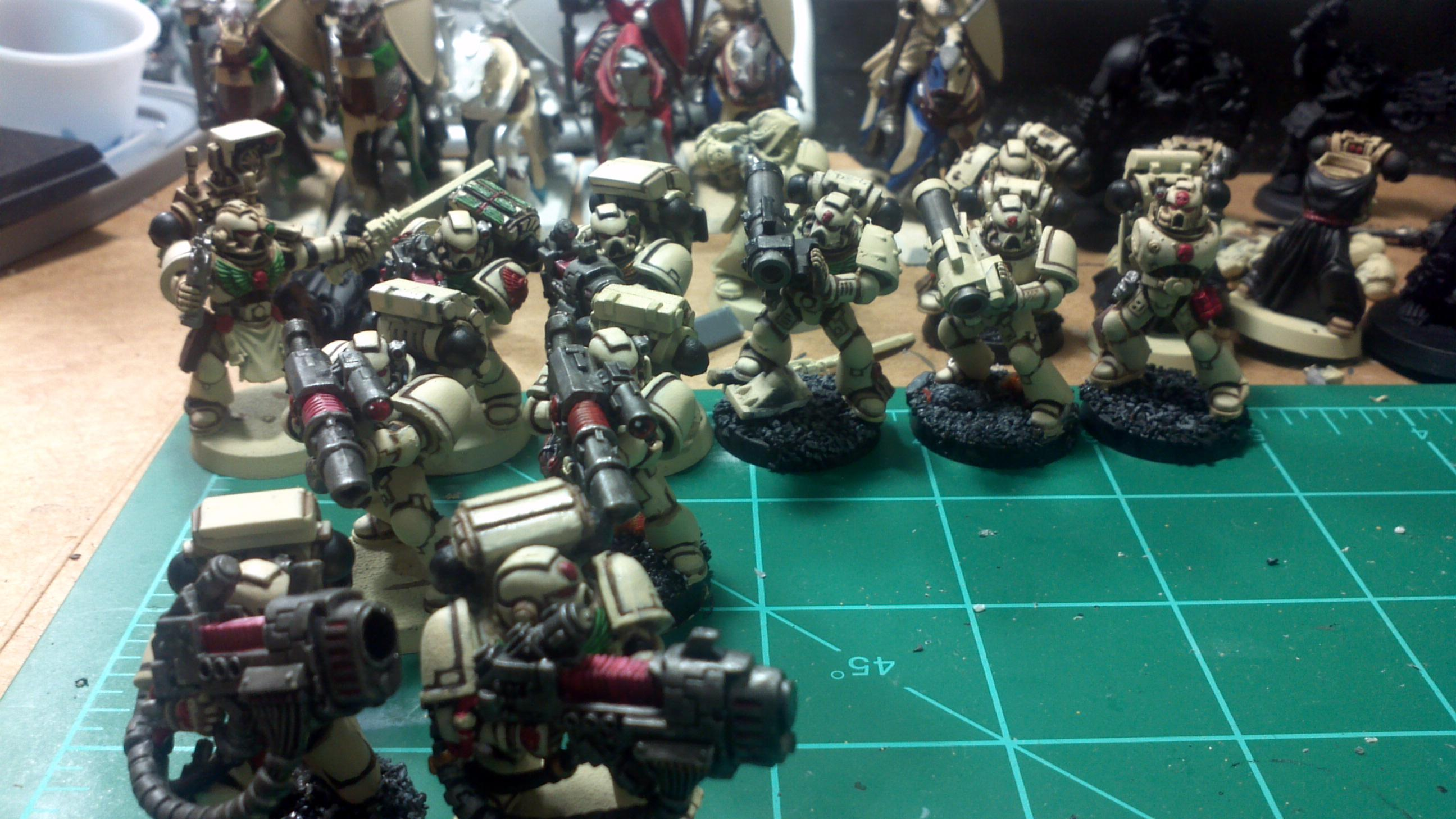 Space Marines, Special weapons squad, half finished