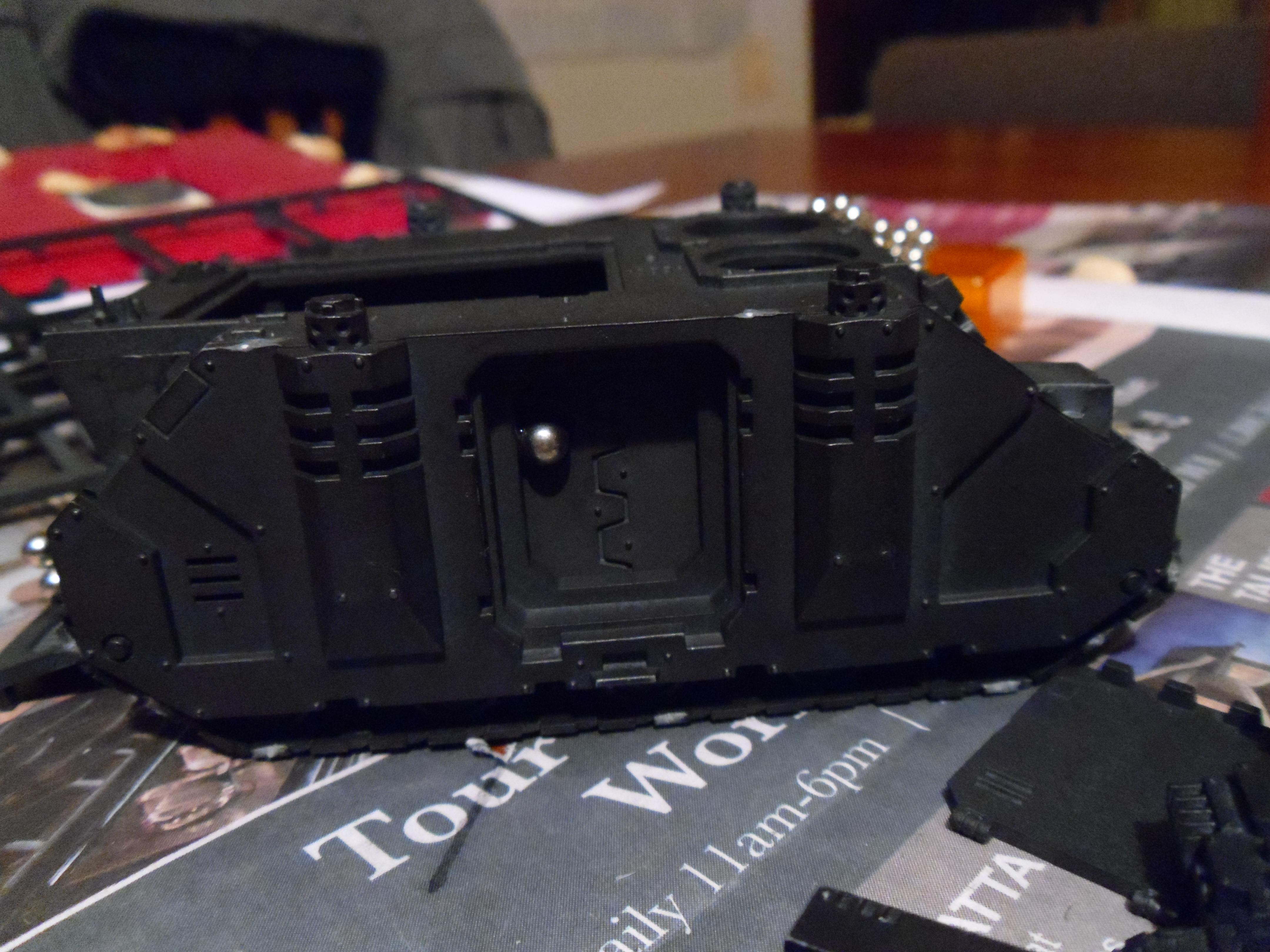 Armor, Customizable, Heavy Support, Imperial Fists, Magnet, Predator, Space Marines, Tank, Warhammer 40,000, Work In Progress