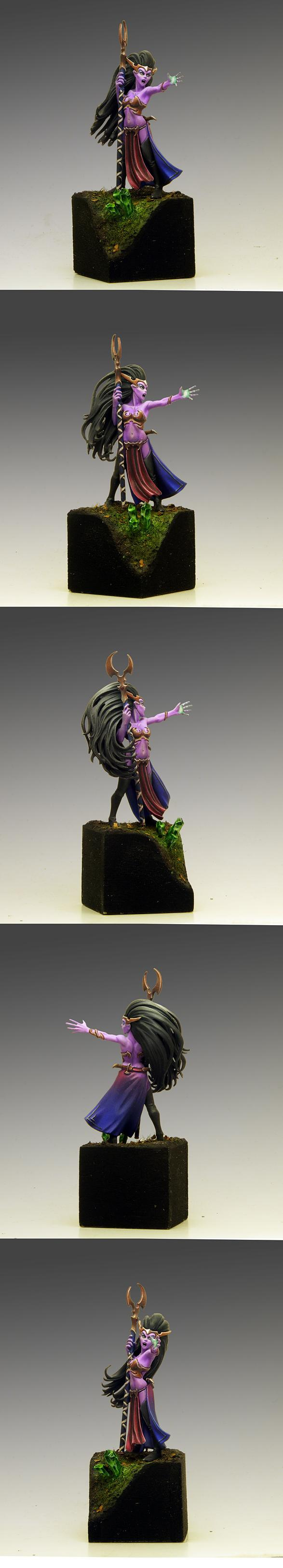 Dark Elves, Sorceress, Warhammer Fantasy, Wfb, Wizard