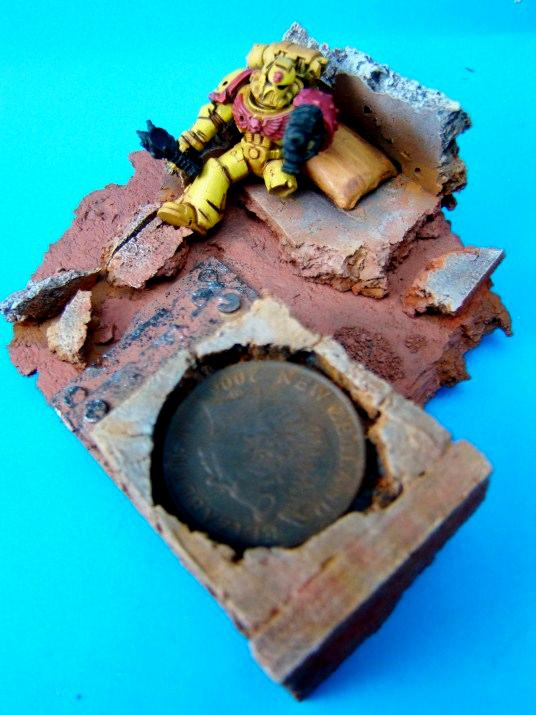 Diorama, Space Marines, Work In Progress, Wounded