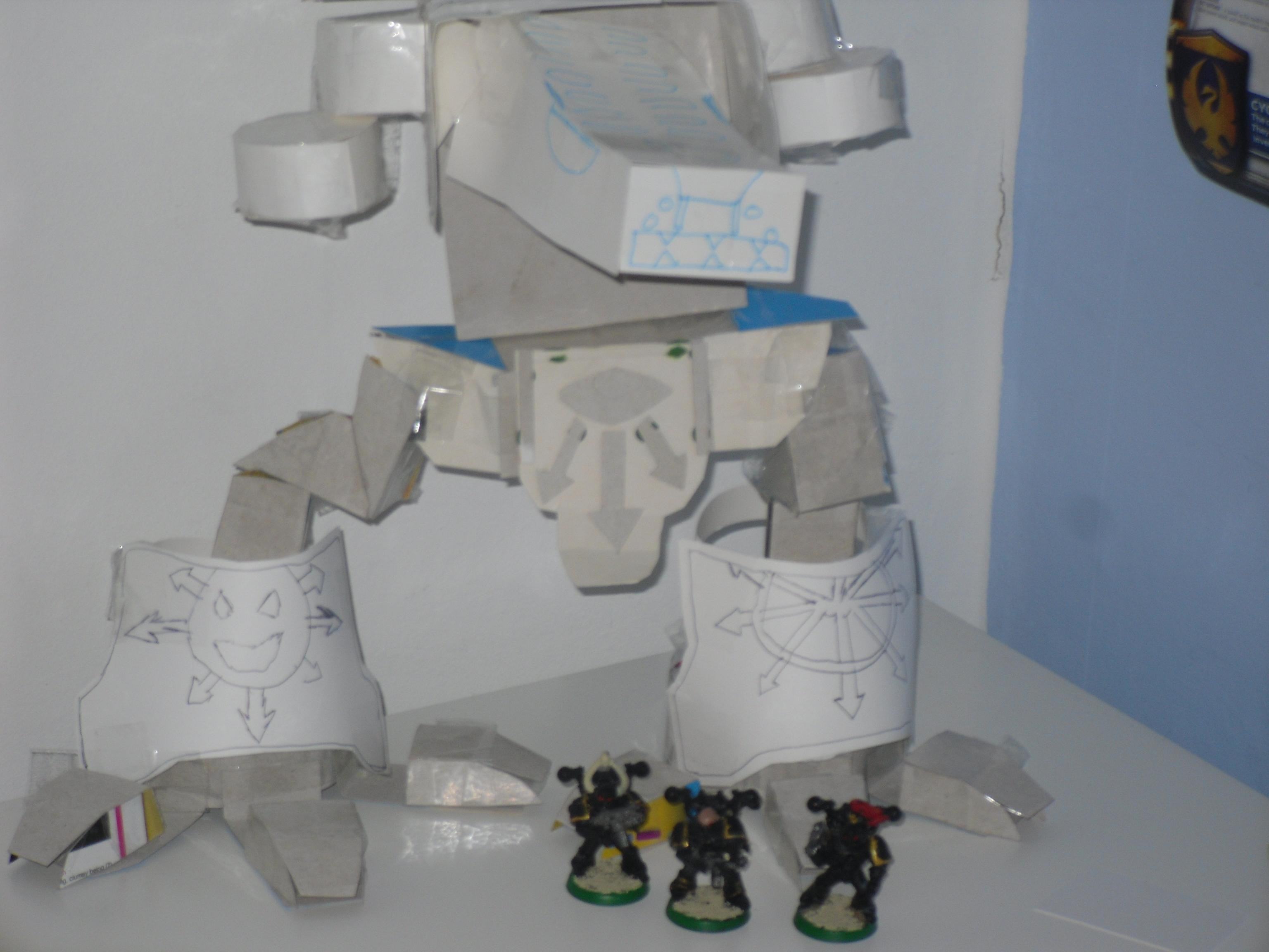 Chaos, Custom, Paper, Scratch Build, Titan, Warhammer 40,000, Warhound