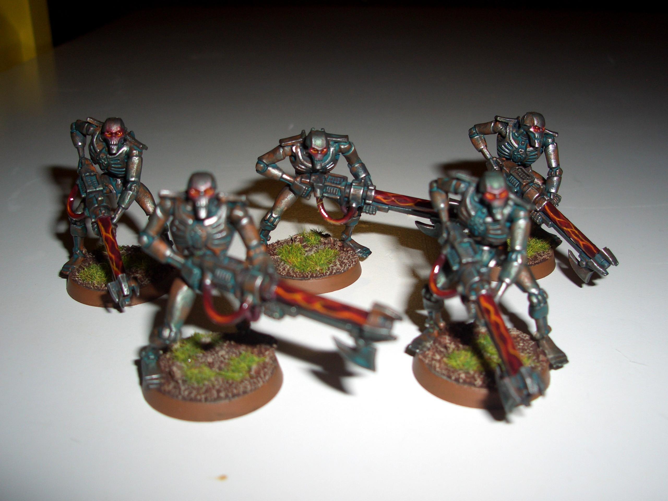 Blurred Photo, Necron Warriors, Necrons, Verdigris, Warhammer 40,000