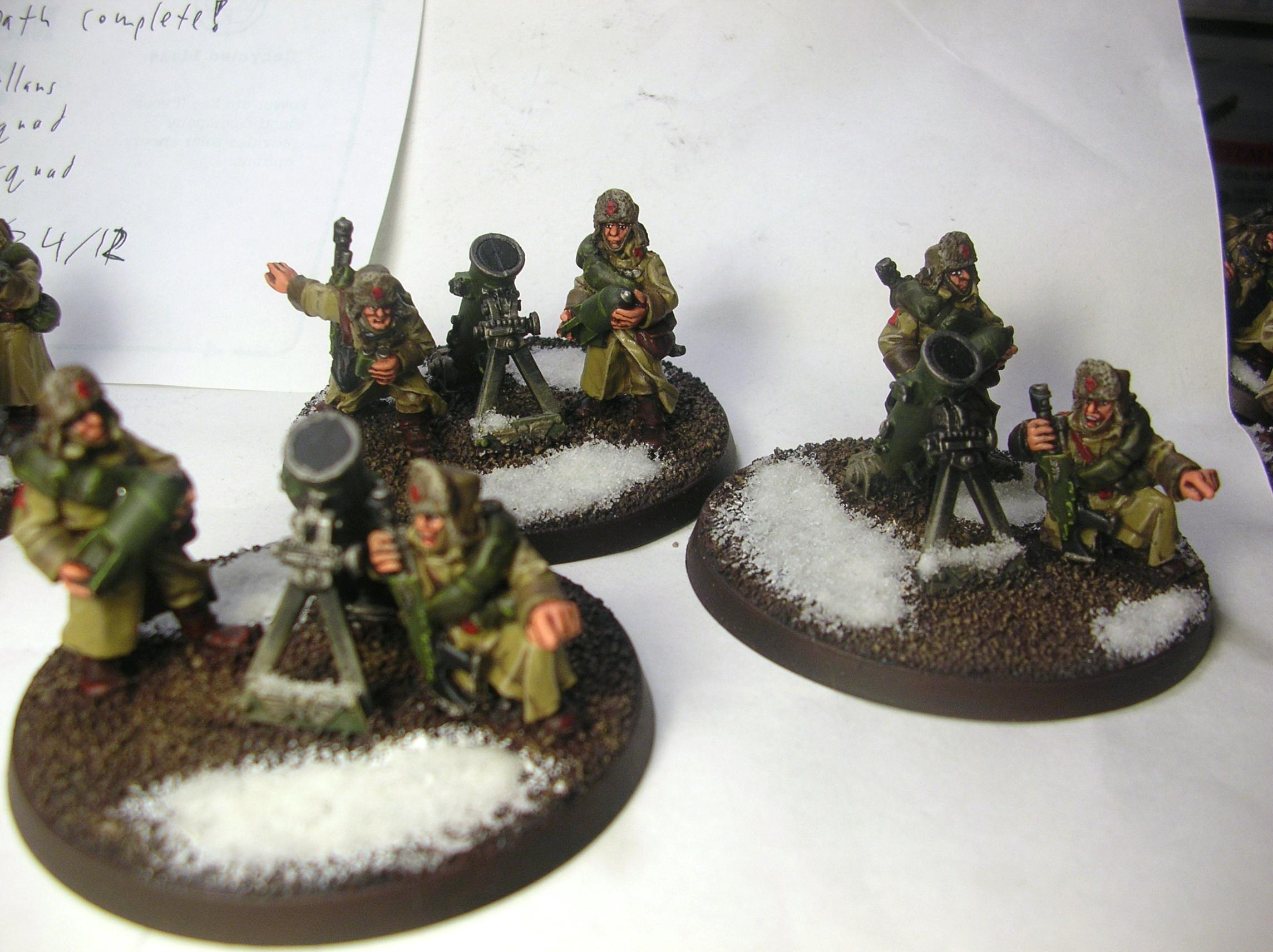 Imperial Guard, Lascannon, Russians, Valhallans, Warhammer 40,000