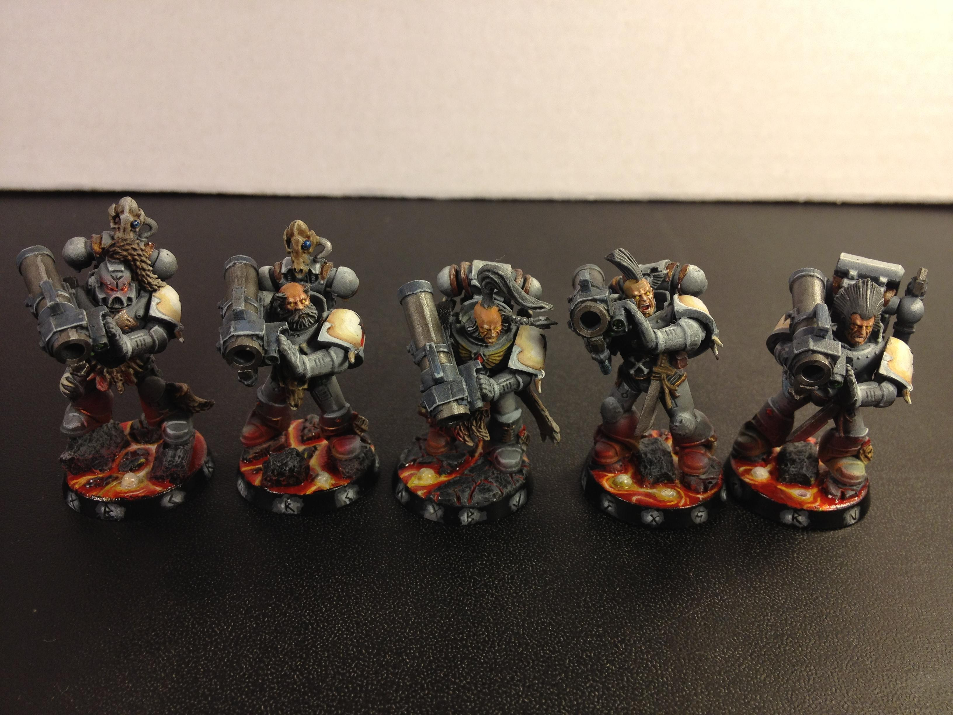 Lava Bases, Missle Launchers, Space Marines, Space Wolves, Warhammer 40,000