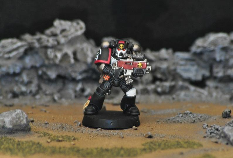 Bolter, Raven Guard, Space Marines, Tactical