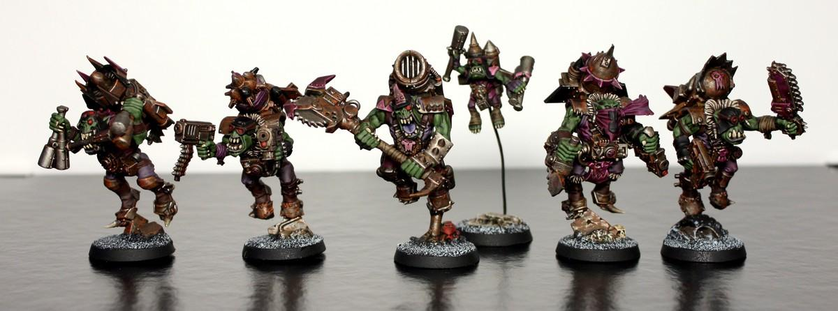 Boy, Orks, Pink, Purple, Stormboyz