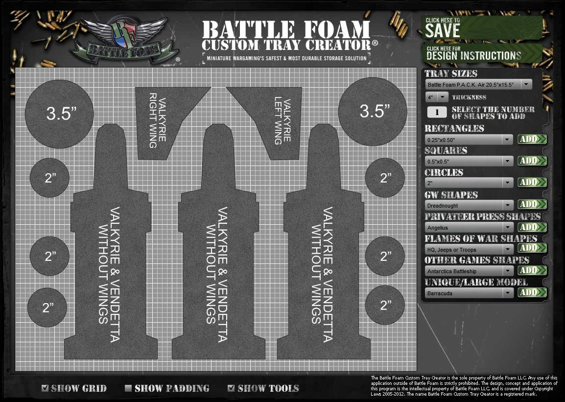 Army Transport, Bag, Battlefoam, Transportation, Valkyrie, Vendetta