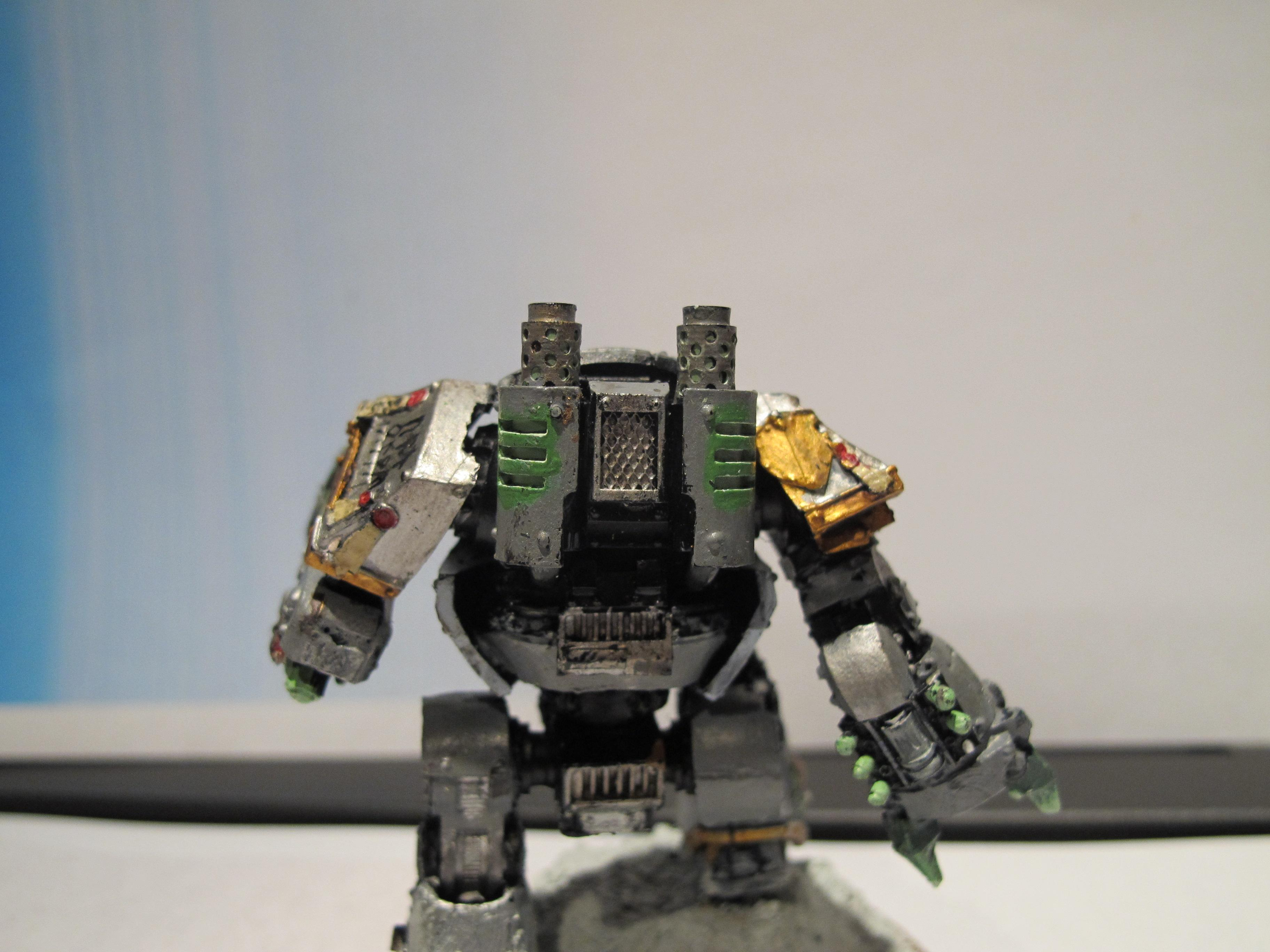 Dreadnought, You see all those little holes with green? I painted each little hole with a fine detail brush. I hate myself sometimes
