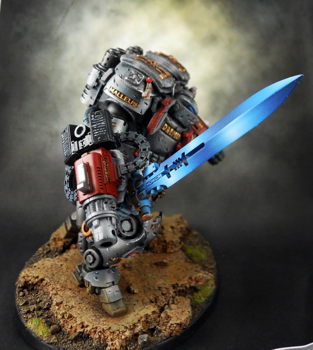 Dread Knight, Grey Knights, Non-Metallic Metal, Power Sword, Space Marines