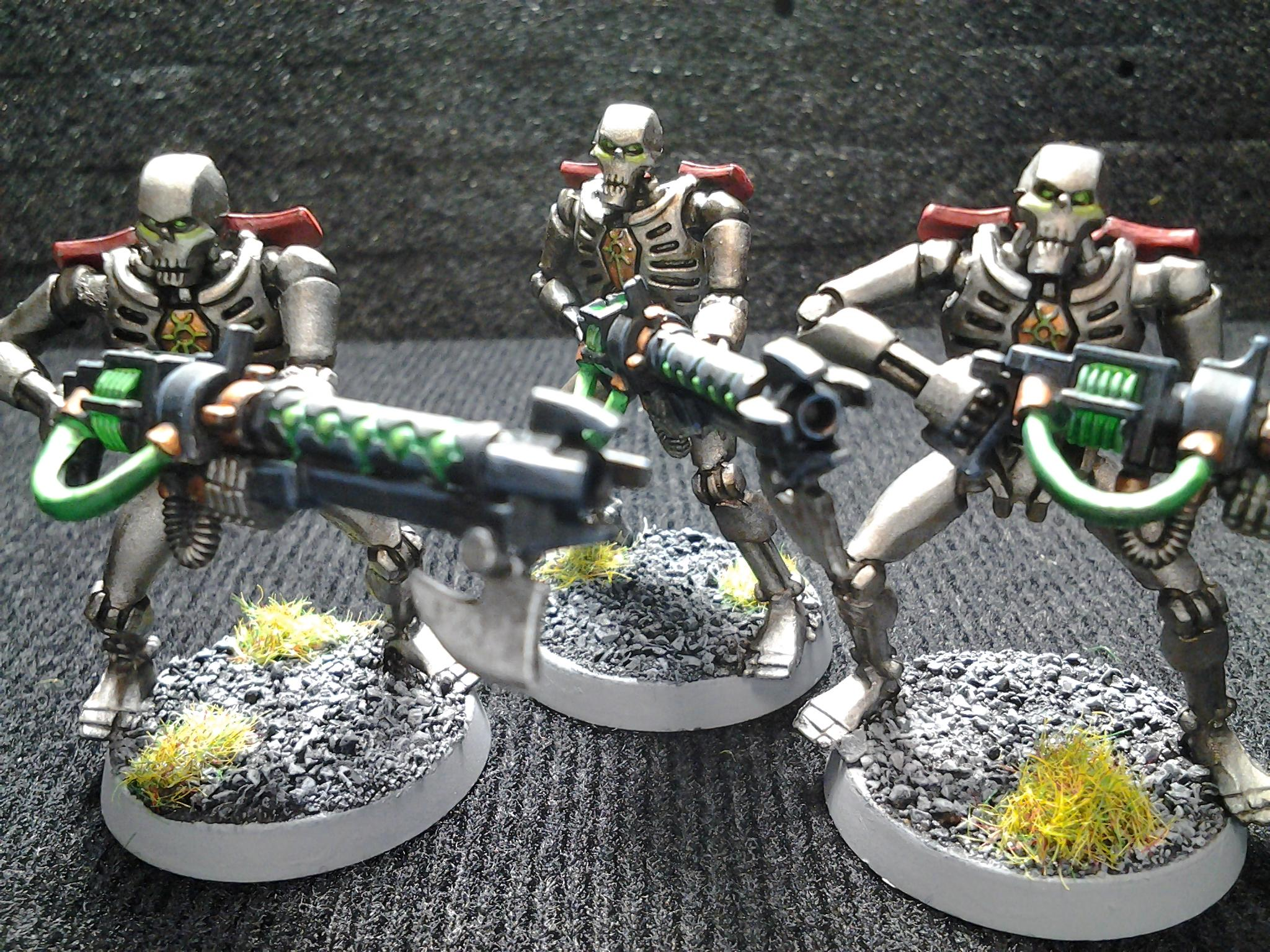 Gauss Conversion, Necron Warrior Conversion, Necron Warriors, Red Necron