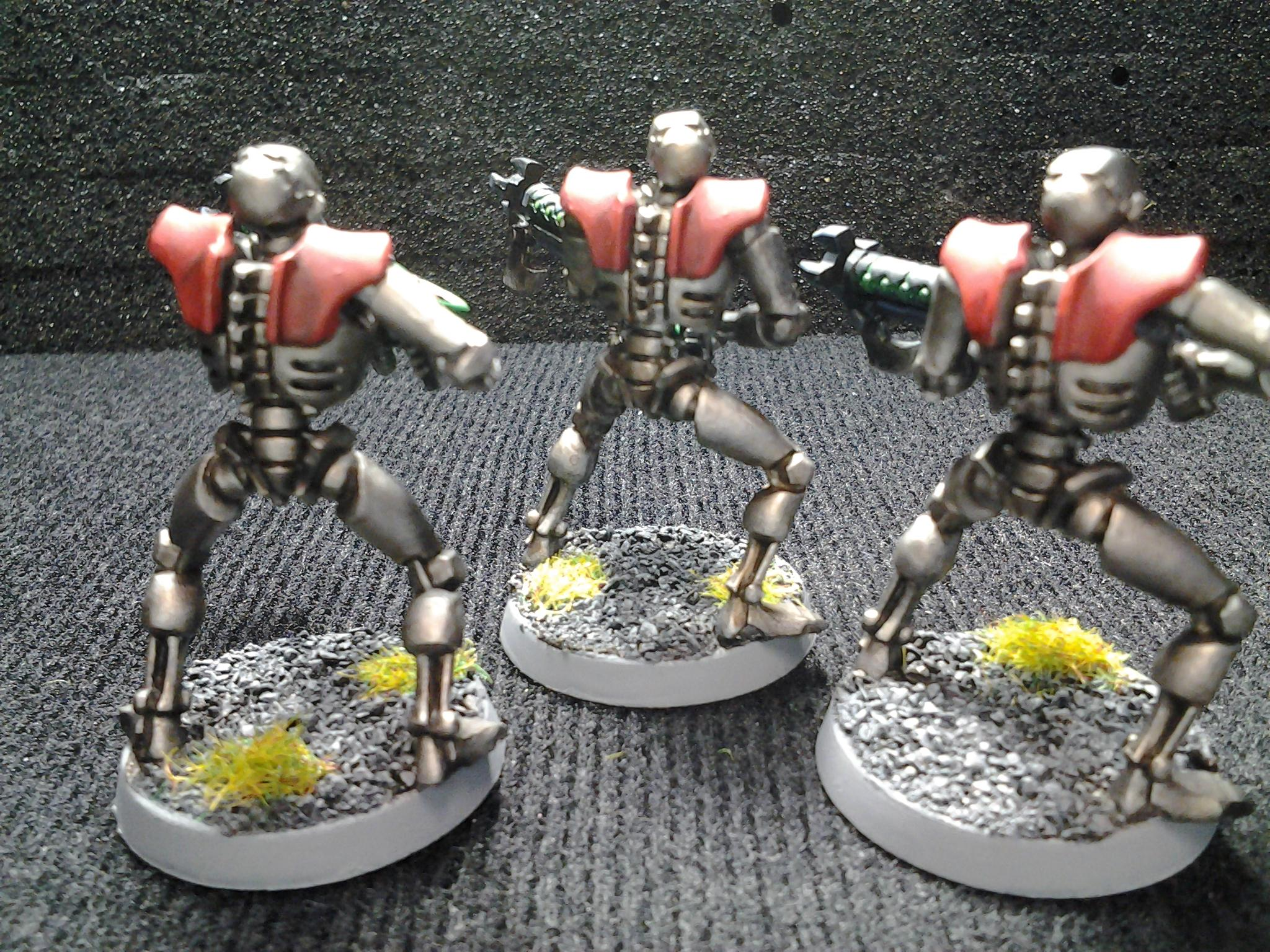 Gauss Conversion, Necron Warrior Conversion, Necron Warriors, Red Necron