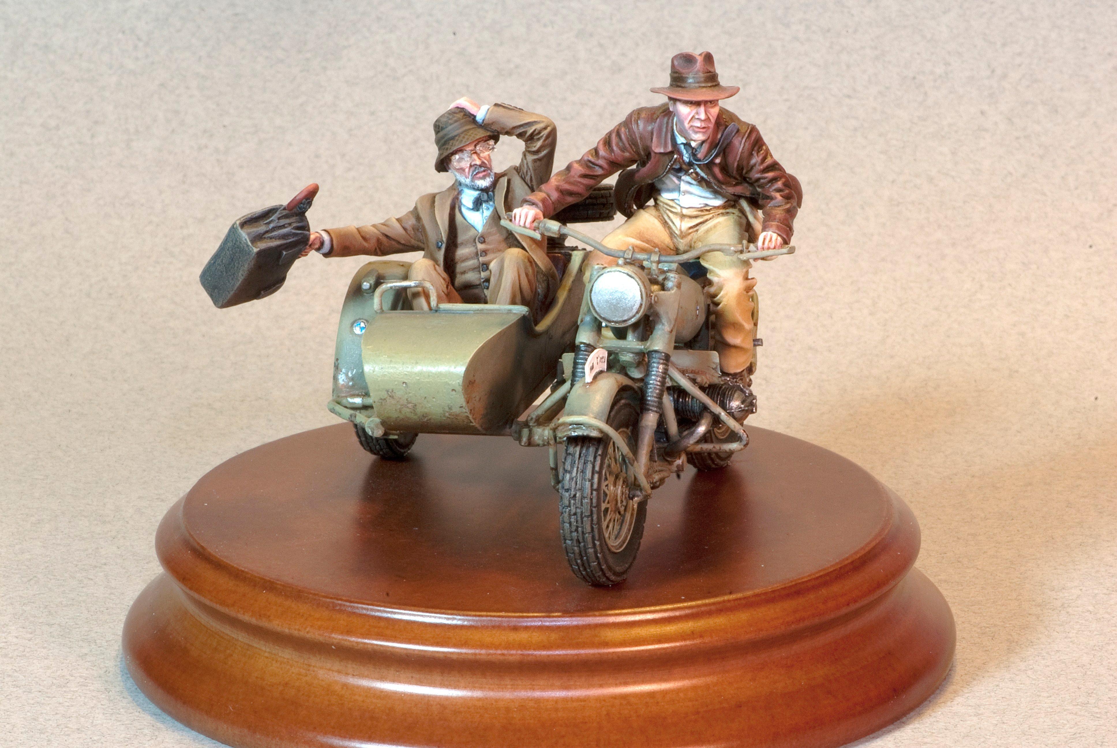 Henry Jones, Indiana Jones, Last Crusade, Motorcycle, Nazis, Sidecar