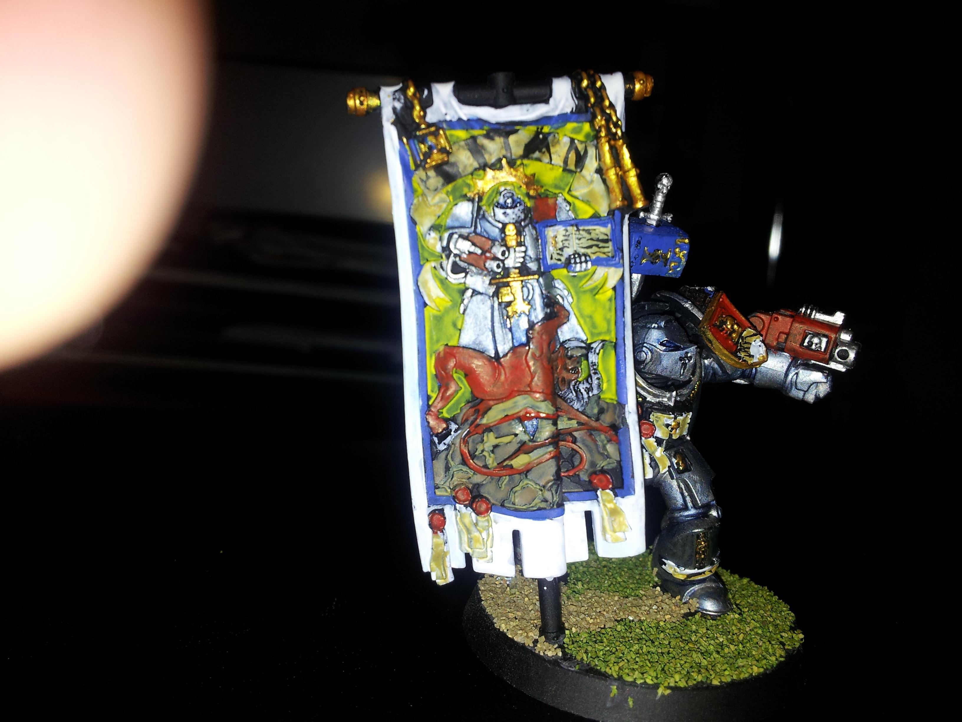 Brotherhood Banner, Grey Knights, Standard Bearer