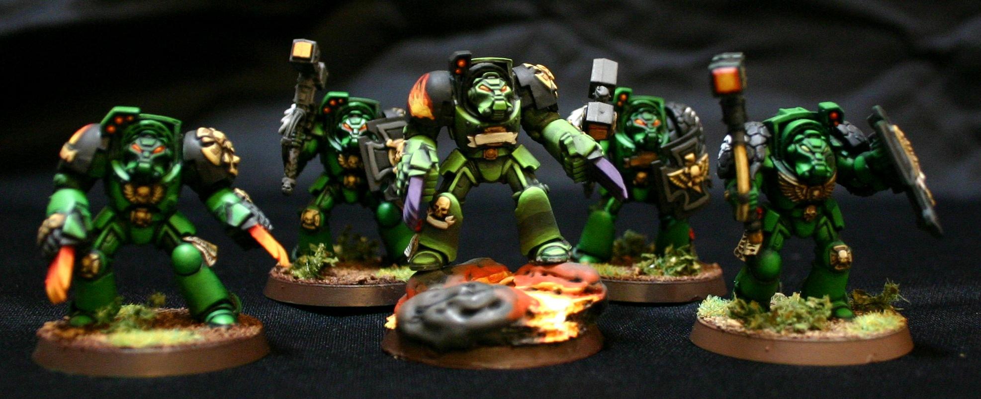 Assault, Salamanders, Space Marines, Terminator Armor, Warhammer 40,000