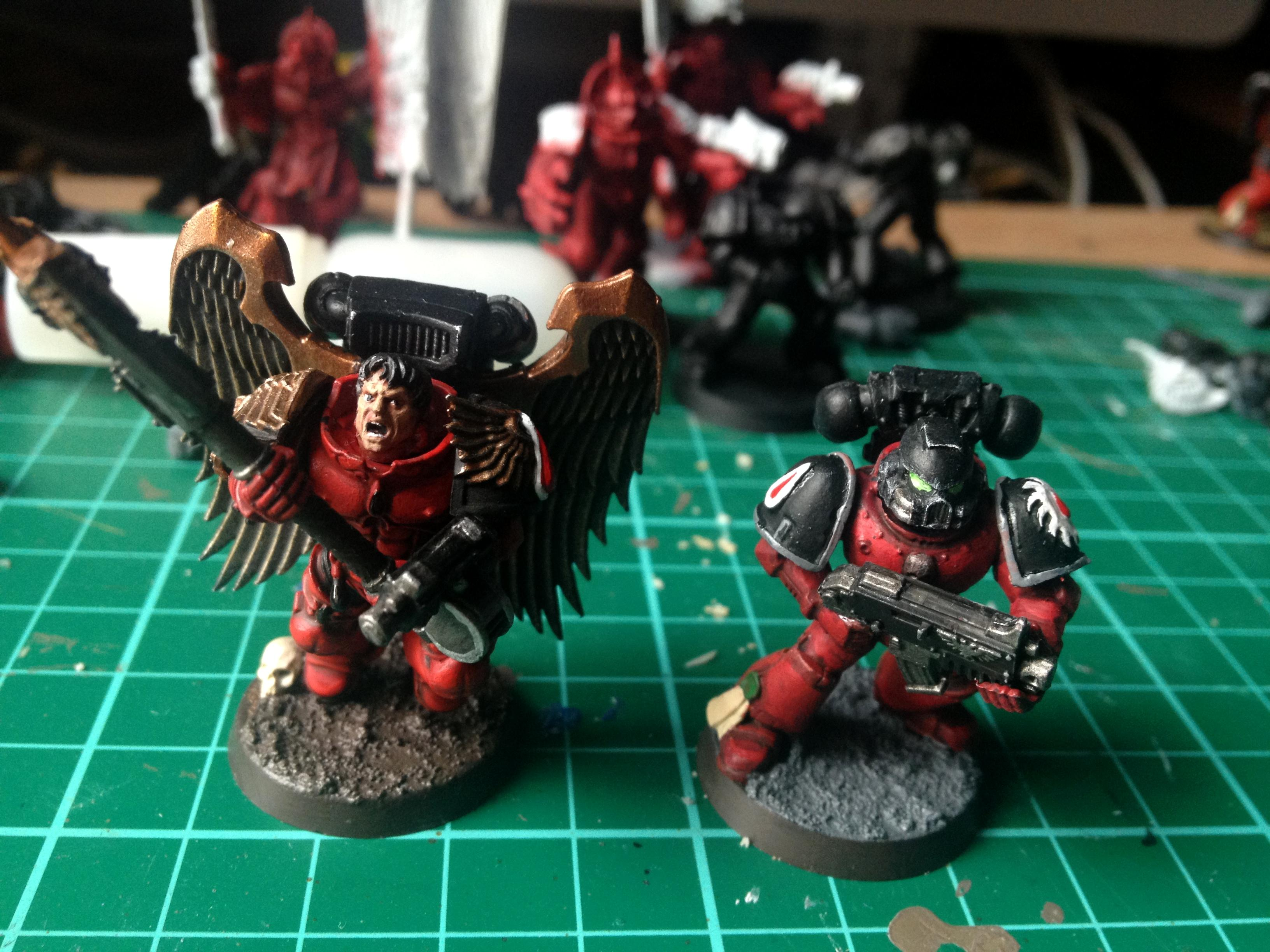 Blood Angels, Flesh Tearer, Sanguinary Guard, Work In Progress