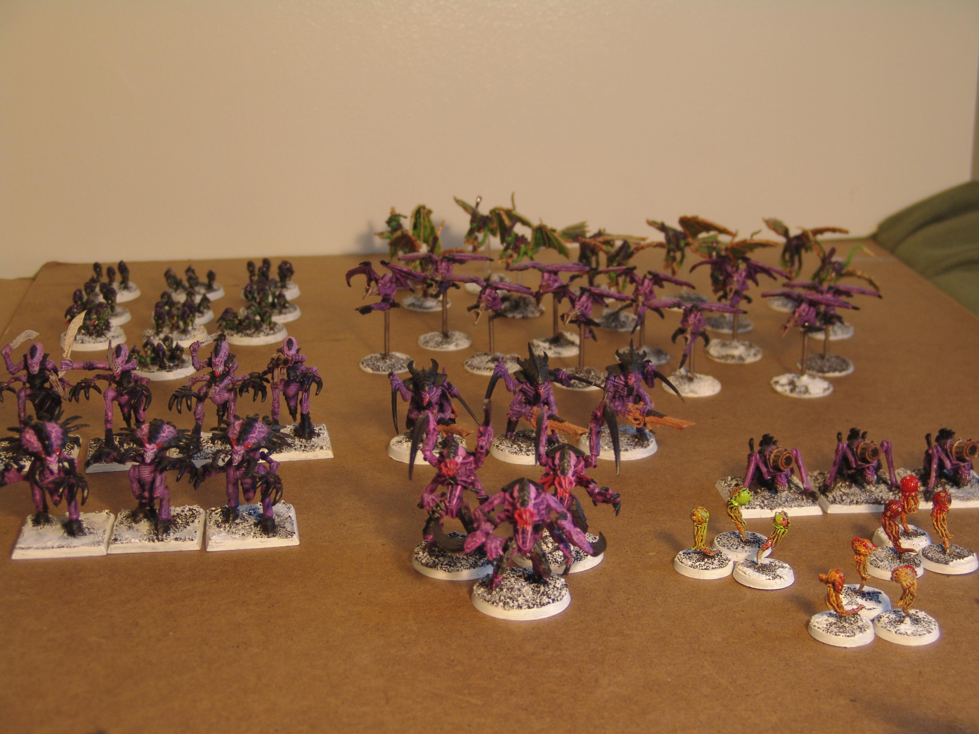 Biovore, Gargoyle, Iceworld, Lictor, Out Of Production, Purple, Ripper, Snow, Tyranids, Warriors, Zoanthrope