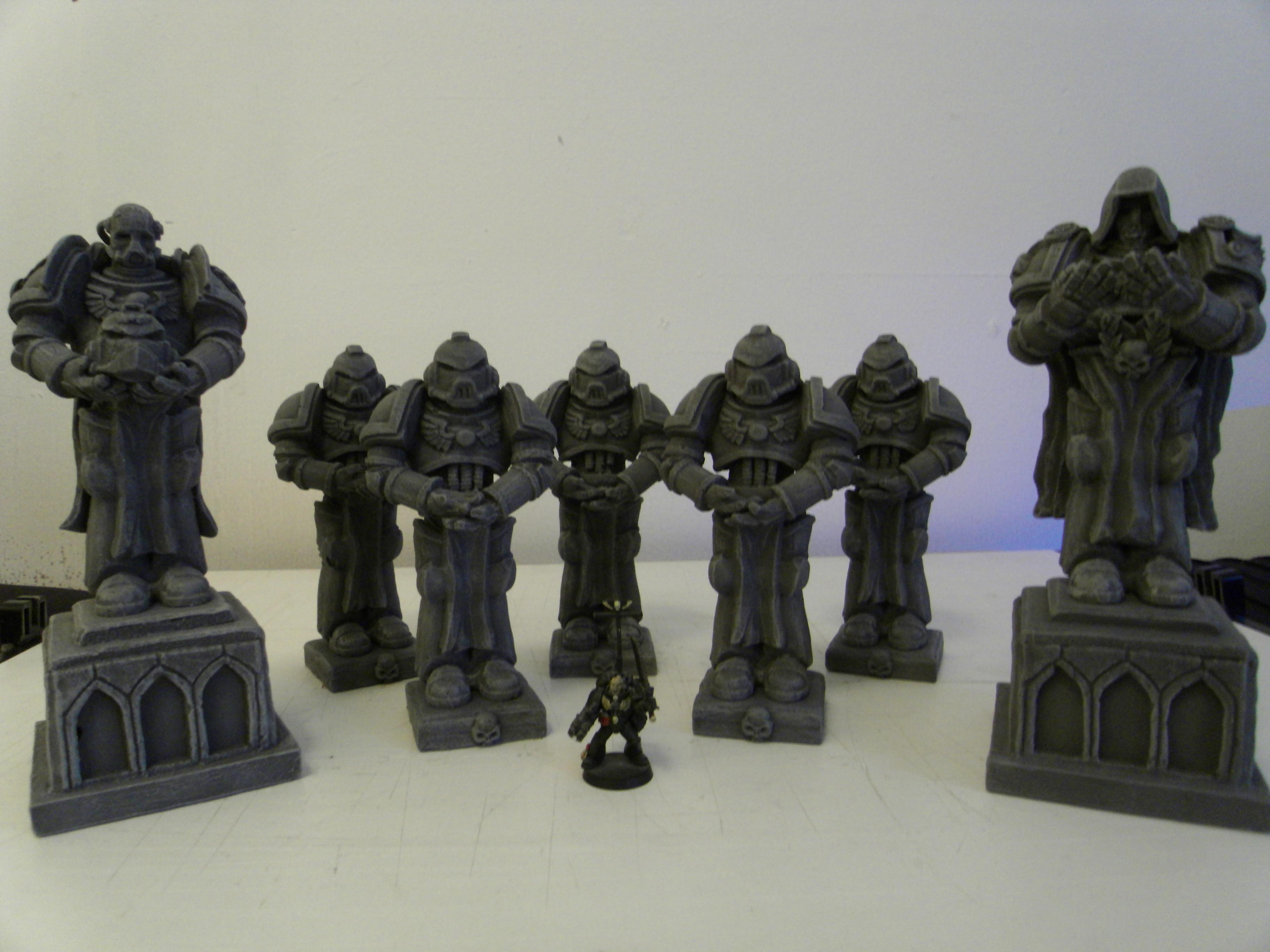 Adeptus Astartes, Space Marines, Statues, Warhammer 40,000