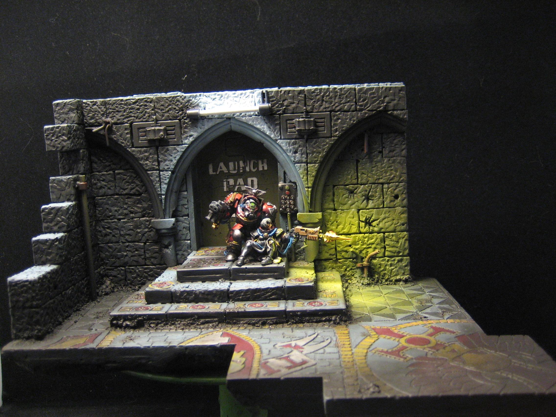Diorama, Object Source Lighting, Space Marines