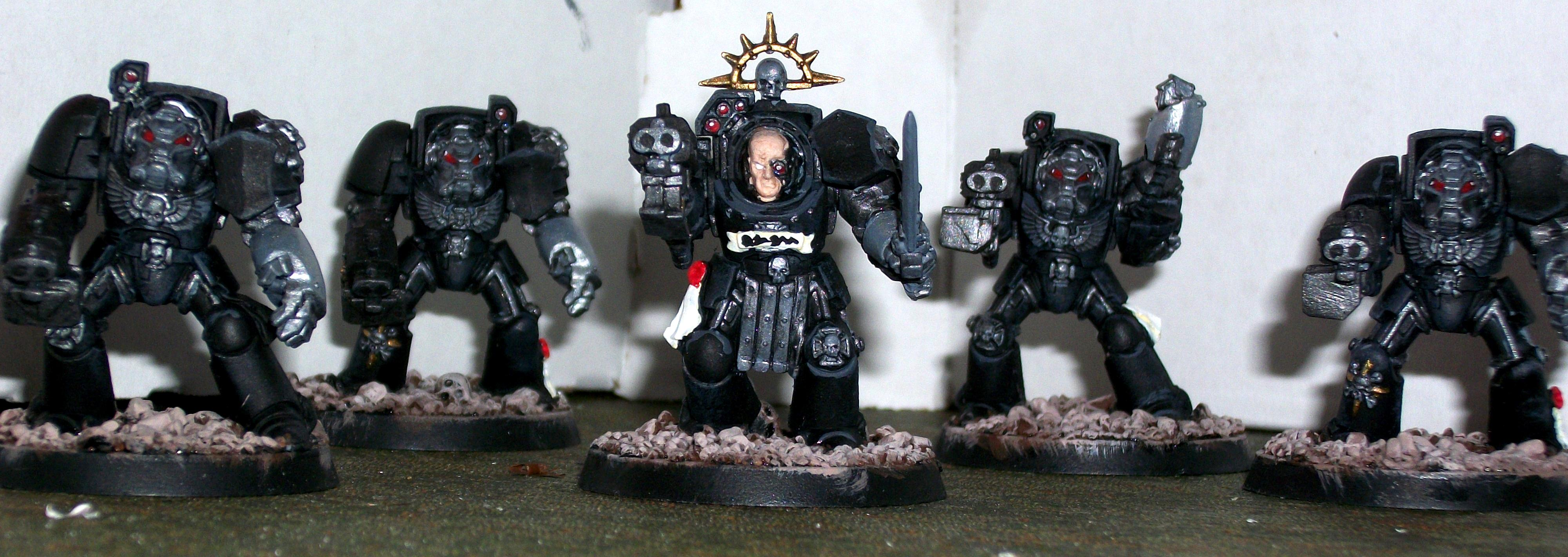 Captain, Dreadnought, Iron Hand, Iron Hands, Space Marines, Tactical Squad, Terminator Armor