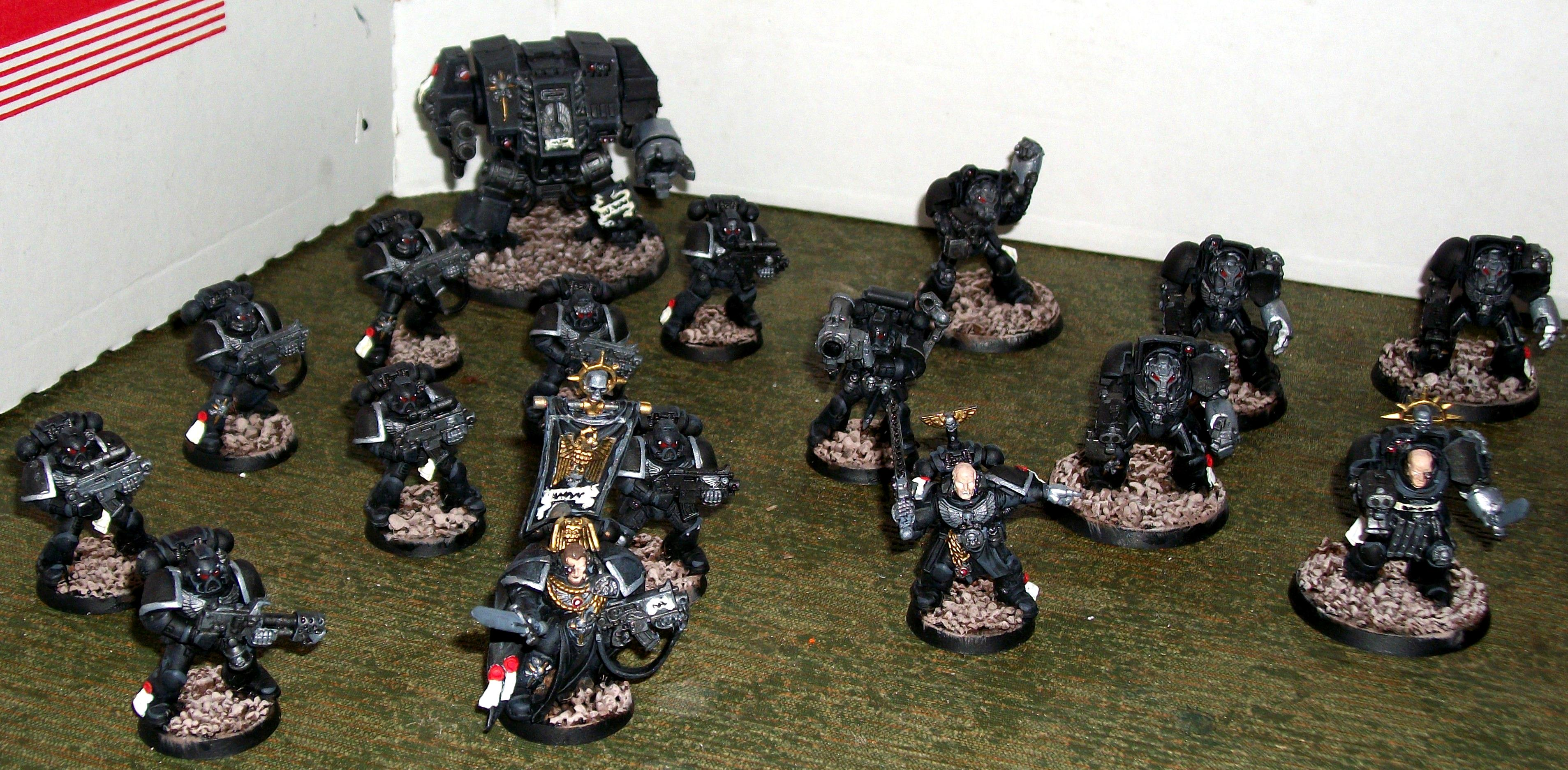 Assault On Black Reach, Captain, Dreadnought, Iron Hand, Iron Hands, Space Marines, Tactical Squad, Terminator Armor