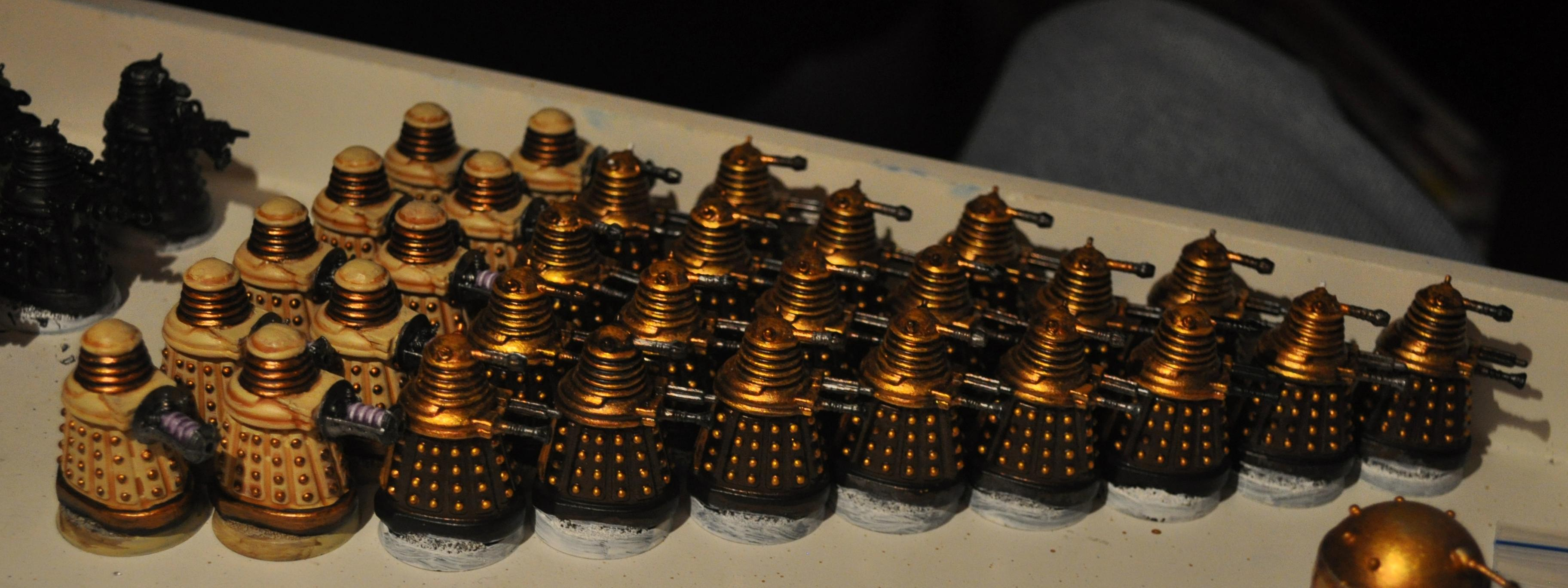 Daleks, Doctor Who, Dalek troops WIP