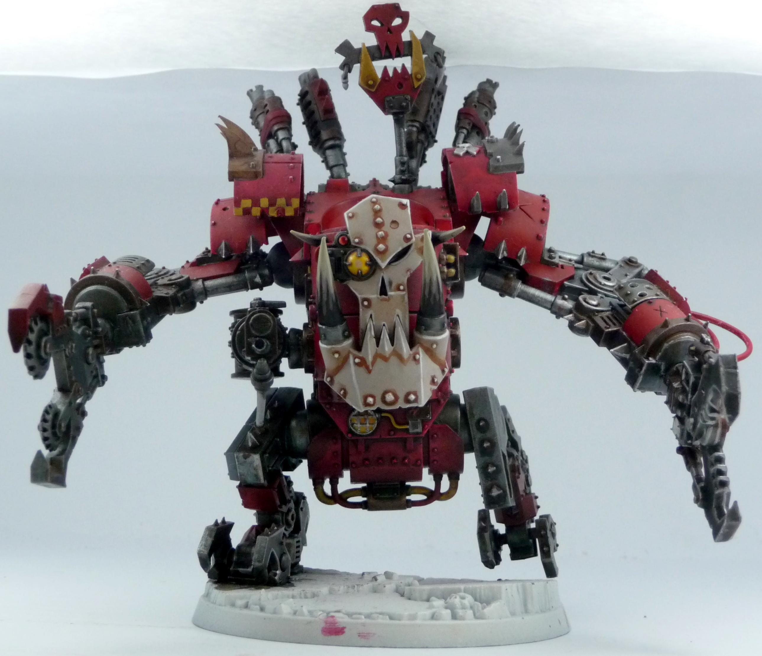 Deff Dread, Evil Sunz, Ork Army, Red Orks, Work In Progress