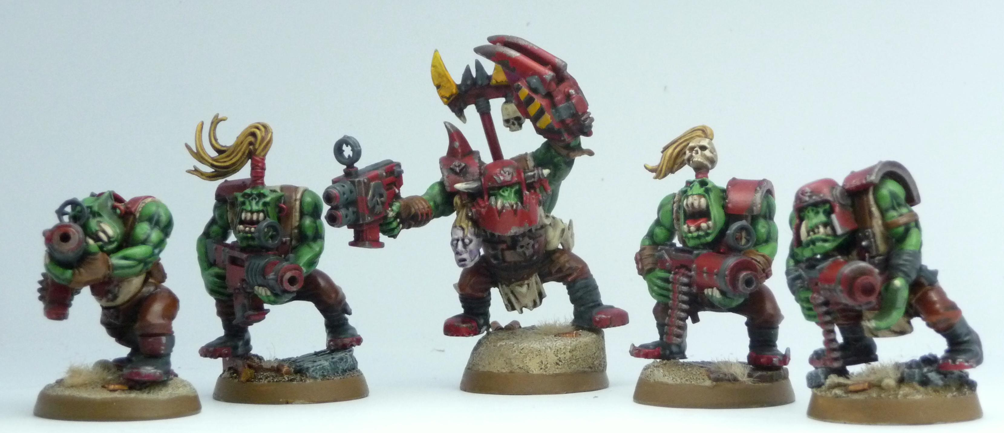 Evil Sunz, Ork Army, Red Orks, Work In Progress