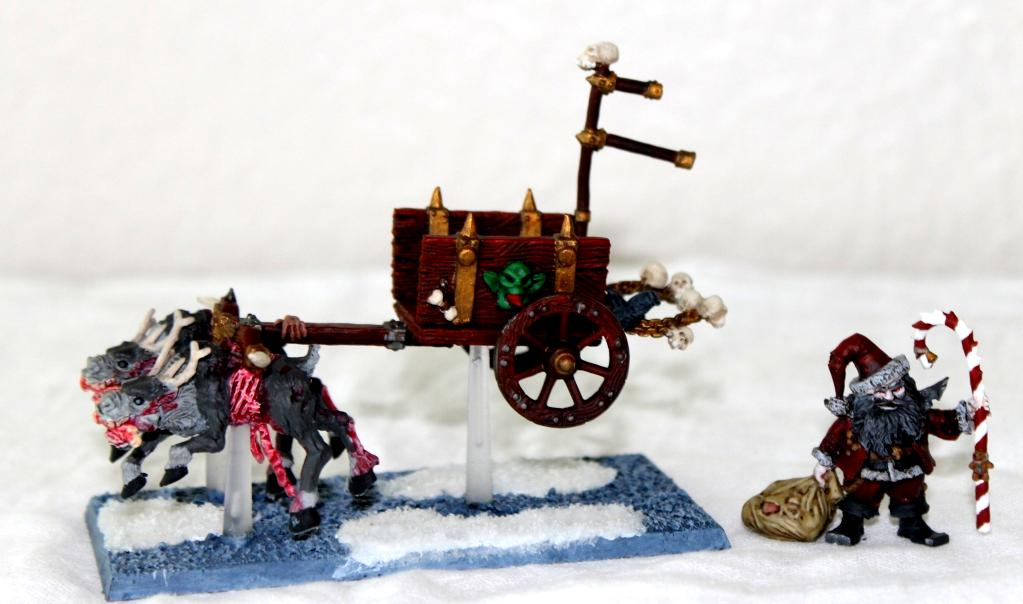 Bad Sanat and Sleigh (Necromancer and Corpse Cart)