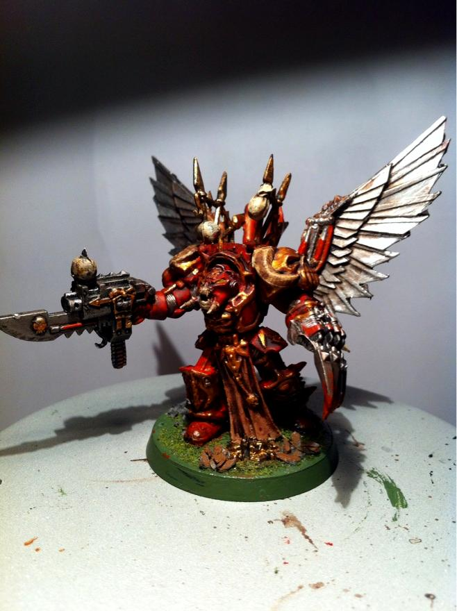 Chaos, Chaos Space Marines, Conversion, Daemonic, Lightning Claw, Lord, Mutant, Painted, Terminator Armor, Warhammer 40,000, Winged