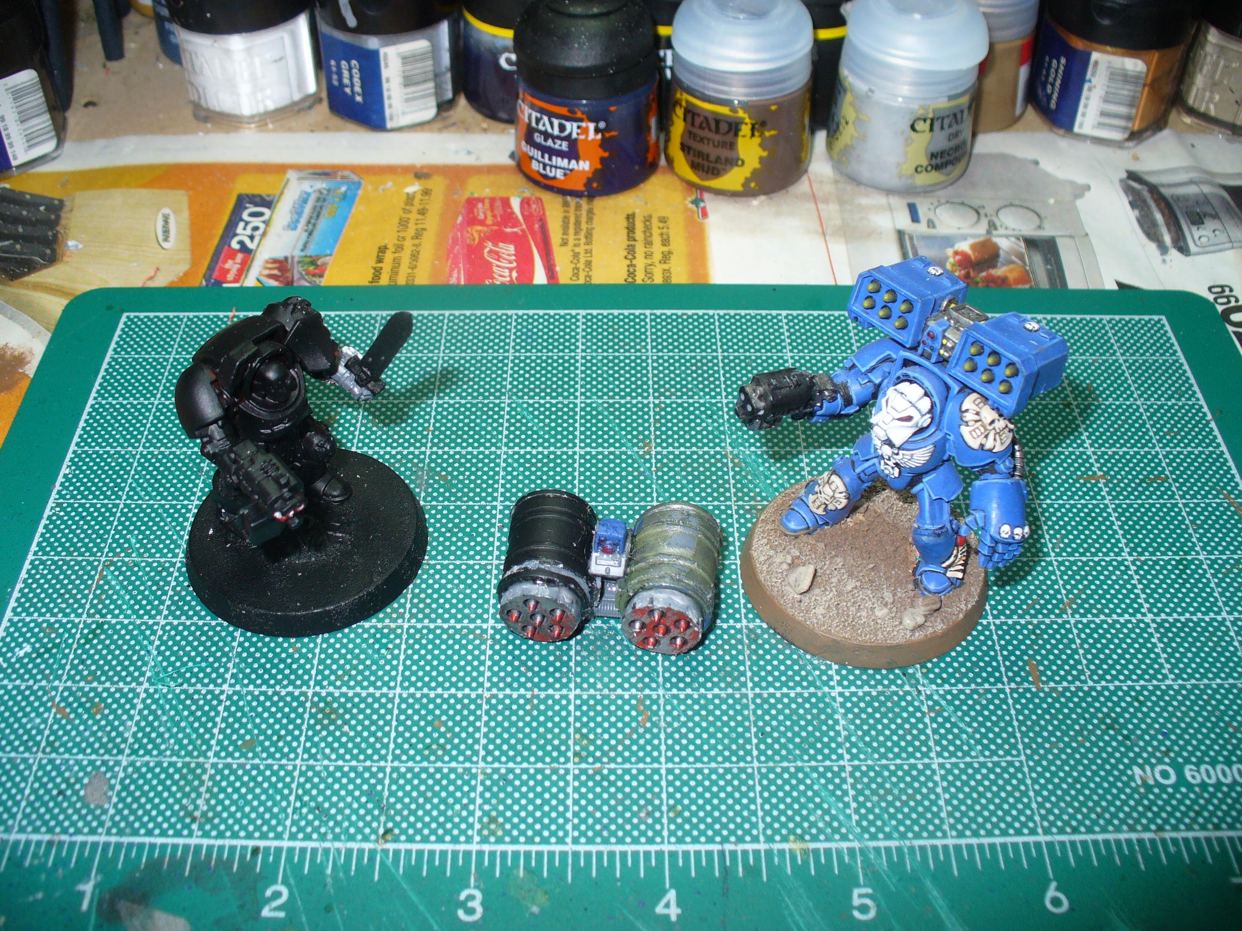 The first of the Wolf Guard with Cyclone Missile Launchers