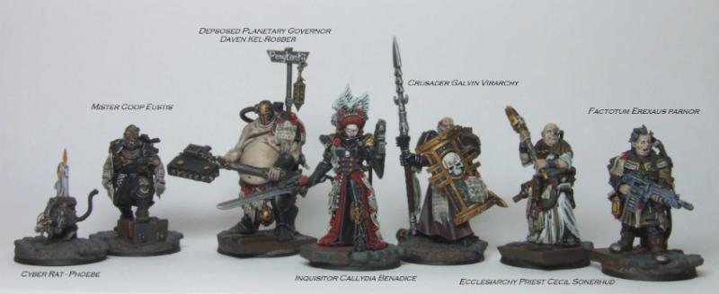 Crusader, Deathmask, Factotum, Inquisitor, Mutie Hunter, Ordo Hereticus, Retinue
