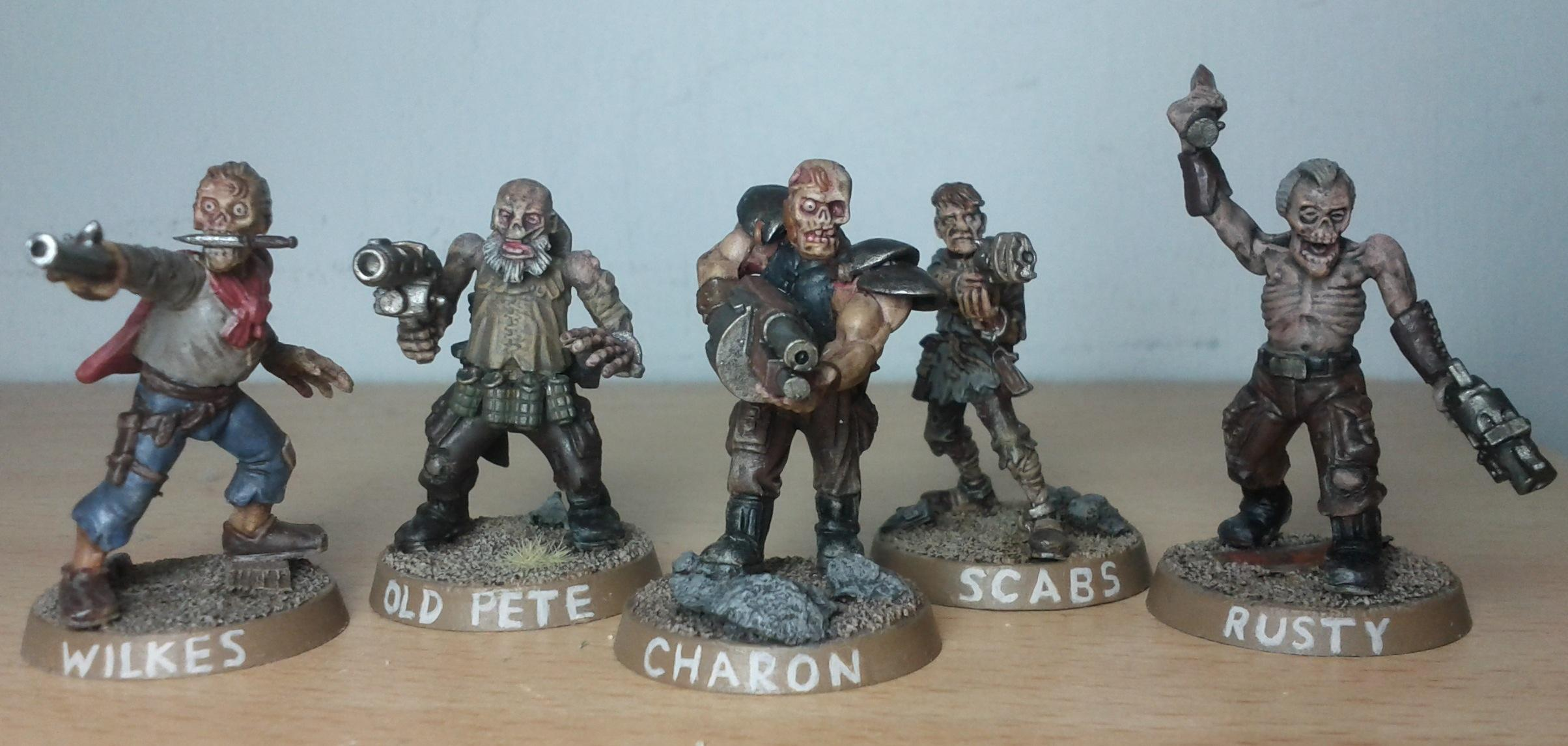Charon, Fallout, Ghoul, Kitbash, Pete, Rusty, Waseland, Wilkes, Zombie