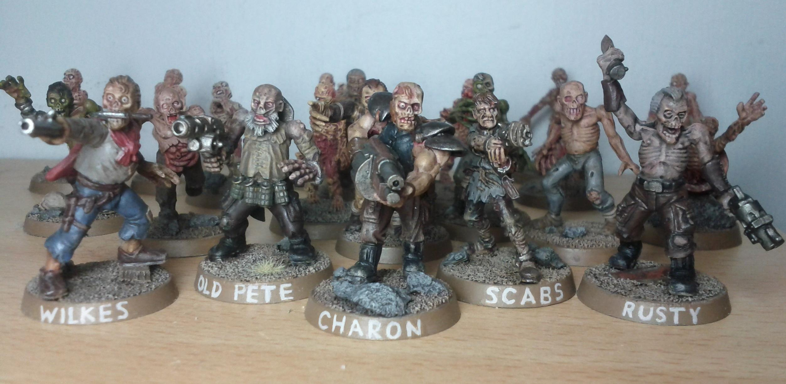Charon, Eureka, Fallout, Ghoul, Kitbash, Pete, Rusty, Waseland, Wilkes, Zombie