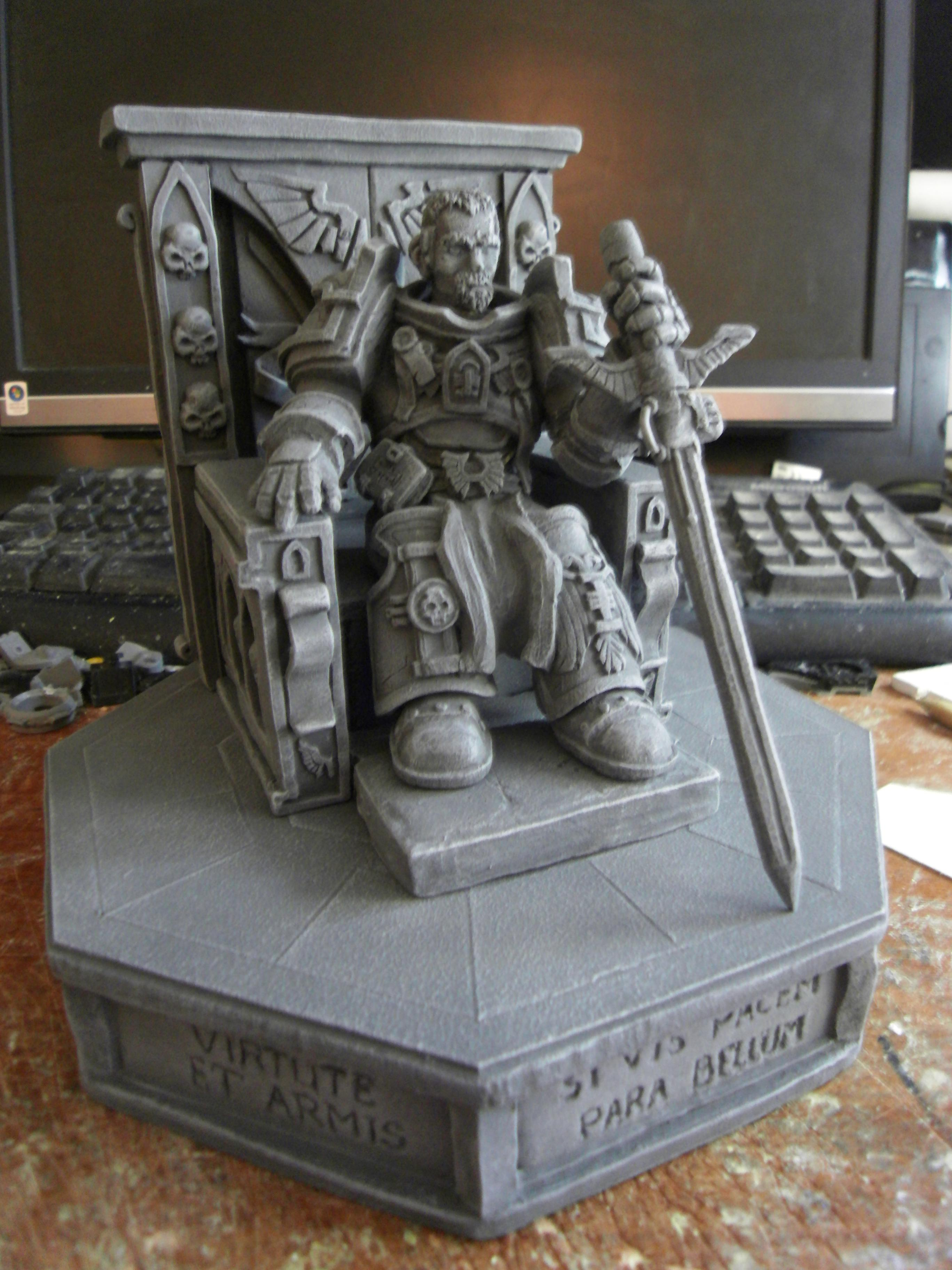 40k Inquisitor, 41st Millenium, Chaos, Chaos Lord, Chaos Space Marines, Imperial, Imperium, Imperium Of Man, Inquisition, Inquisitor, Inquisitor Lord, Lord Inquisitor, Monument, Power Sword, Scatch Build, Scratch Build, Sculpting, Sculpture, Space Marines, Statue, Statues, Stone, Terrain, Throne, Warhammer 40,000, Warhammer Fantasy