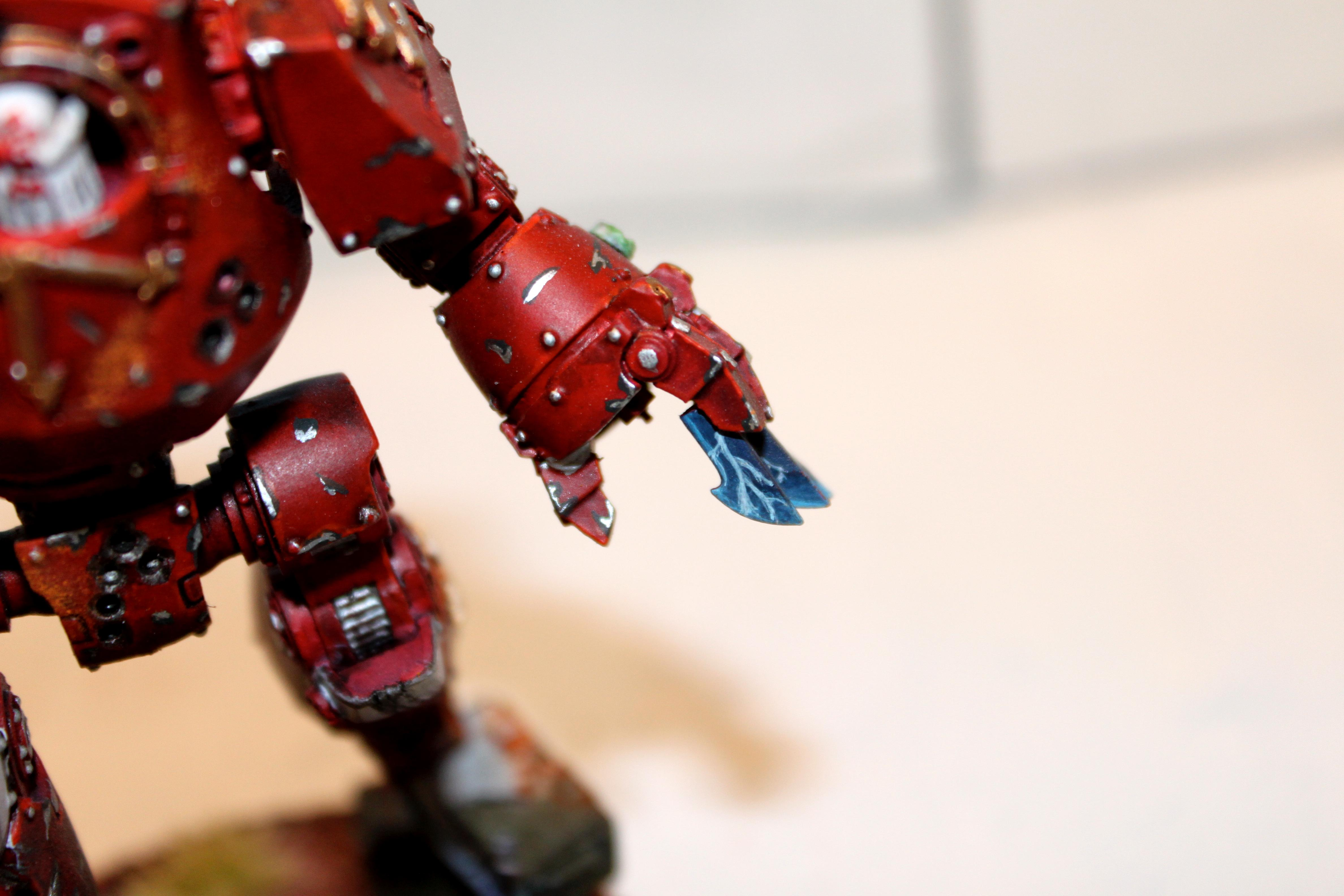 Battle Damage, Claws, Contemptor, Fingernails, Power, Red, Space Marines, Stealershock, Warhammer 40,000