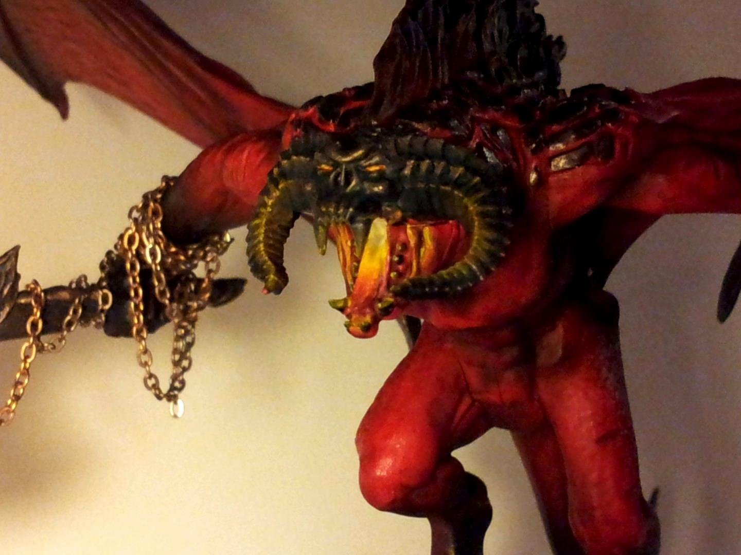 Balrog, Balrog. Bloodthirster, Bloodthirster, Chaos, Chaos Daemons, Conversion, Daemons, Fire, Greater Daemon, Khorne, Object Source Lighting, Red