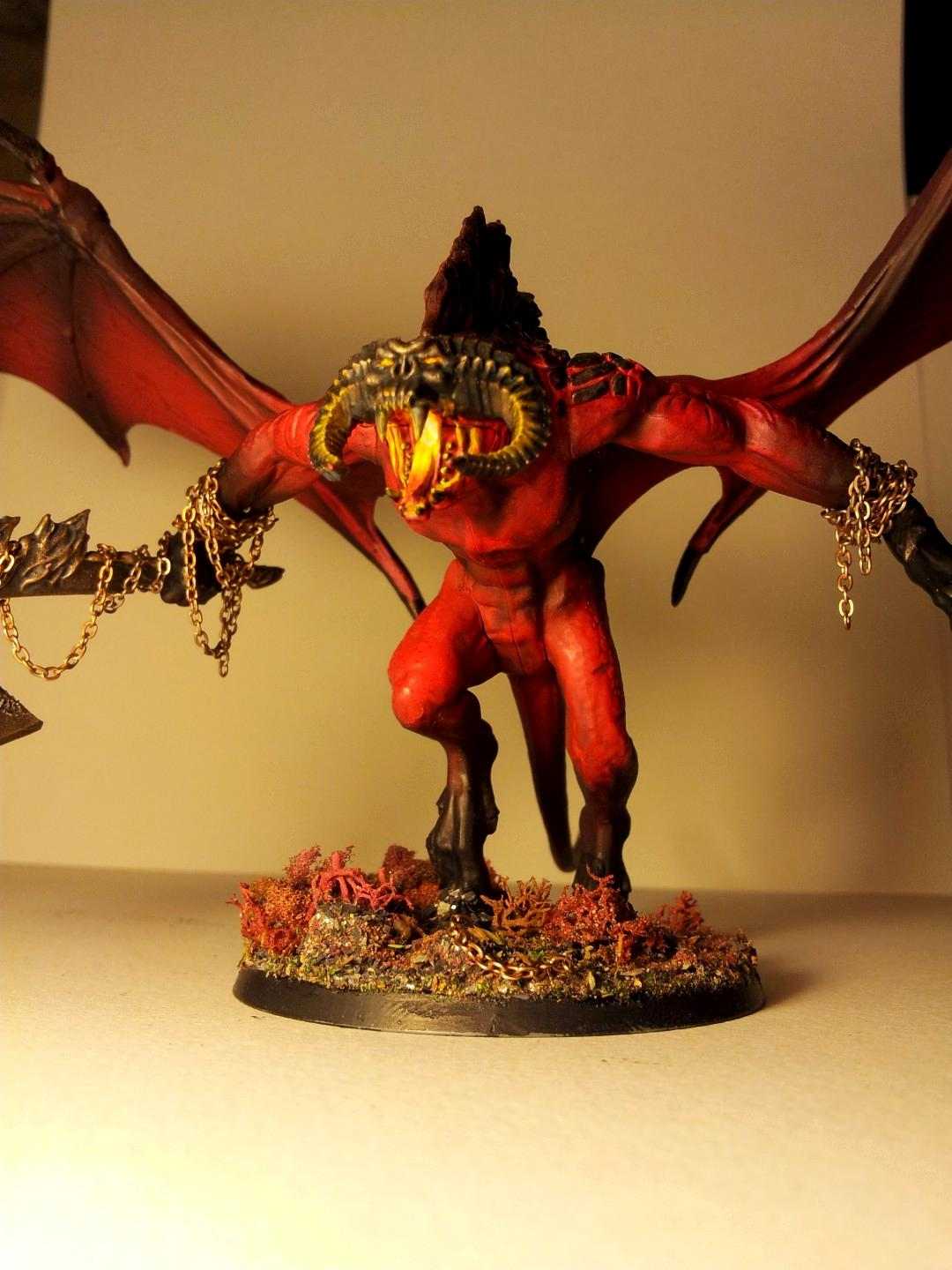 Balrog, Bloodthirster, Chaos, Chaos Daemons, Conversion, Daemons, Fire, Greater Daemon, Khorne, Object Source Lighting, Red