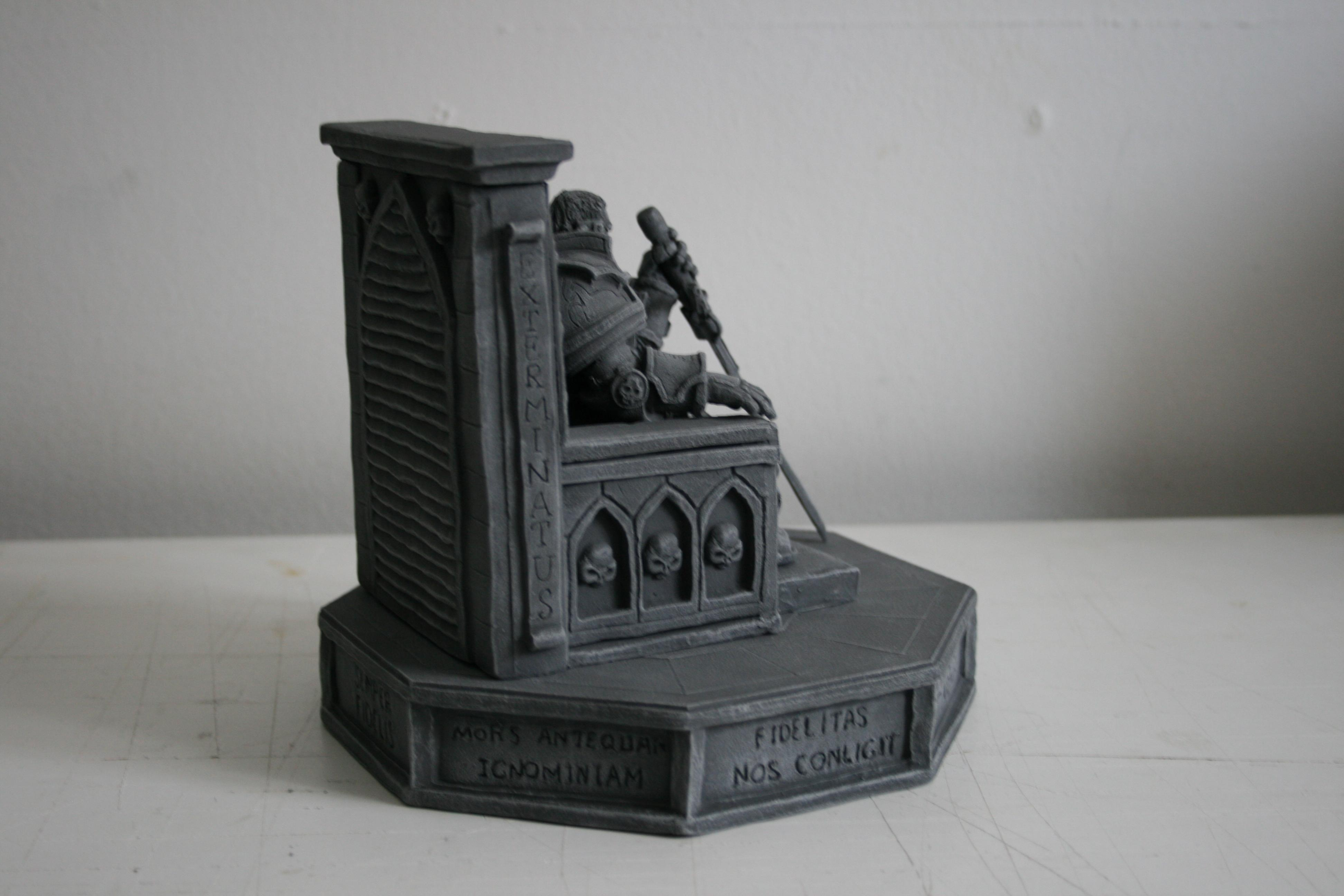 40k Inquisitor, Chaos, Chaos Lord, Chaos Space Marines, Imperial, Imperium, Inquisition, Inquisitor, Inquisitor Lord, Lord Inquisitor, Monument, Scatch Build, Scratch Build, Sculpting, Sculpture, Space Marines, Statue, Statues, Terrain, Warhammer 40,000, Warhammer Fantasy