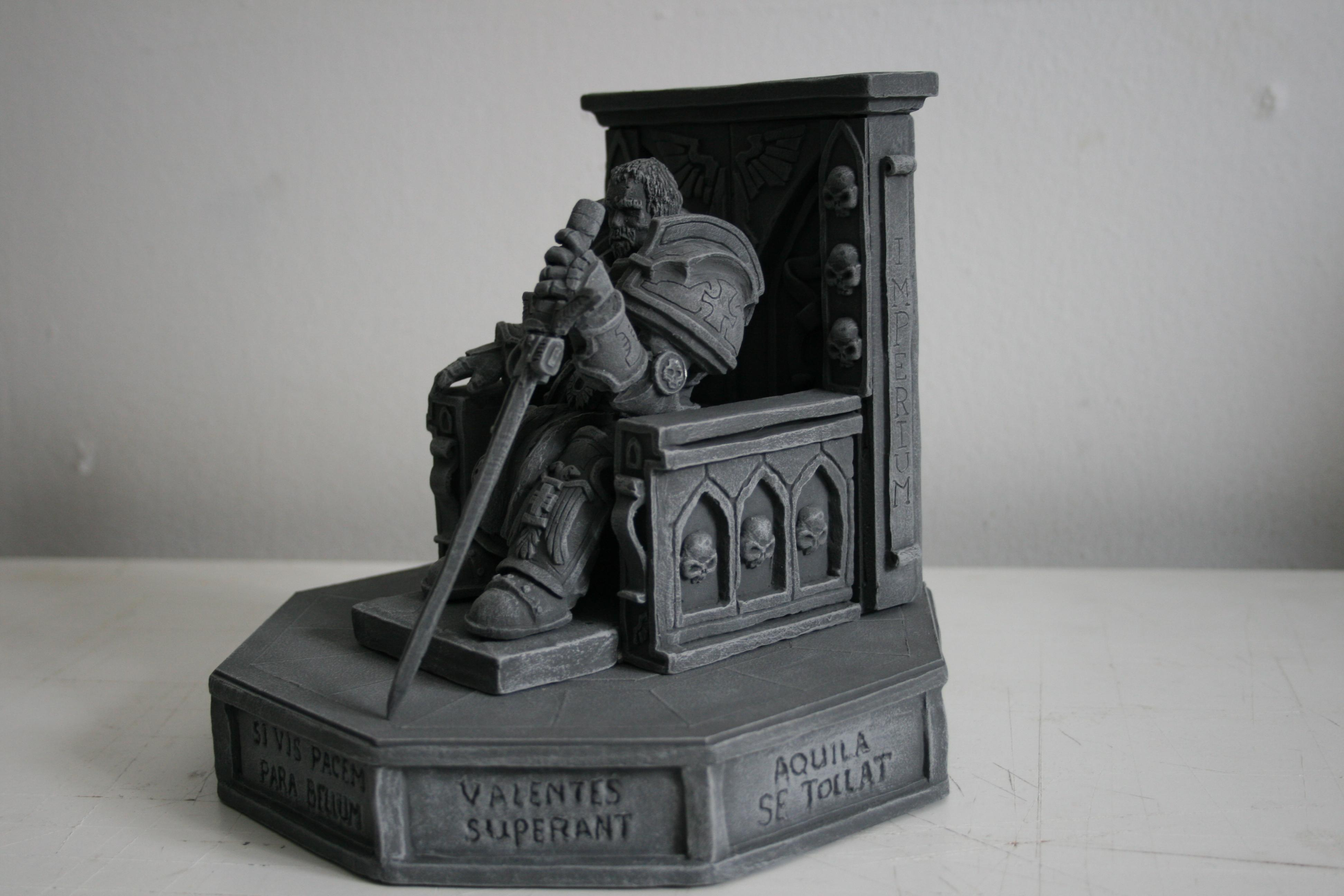 40k Inquisitor, Chaos, Chaos Lord, Chaos Space Marines, Imperial, Imperium, Inquisition, Inquisitor, Inquisitor Lord, Lord Inquisitor, Monument, Scatch Build, Scratch Build, Sculpting, Sculpture, Space Marines, Statue, Statues, Terrain, Throne, Warhammer 40,000, Warhammer Fantasy