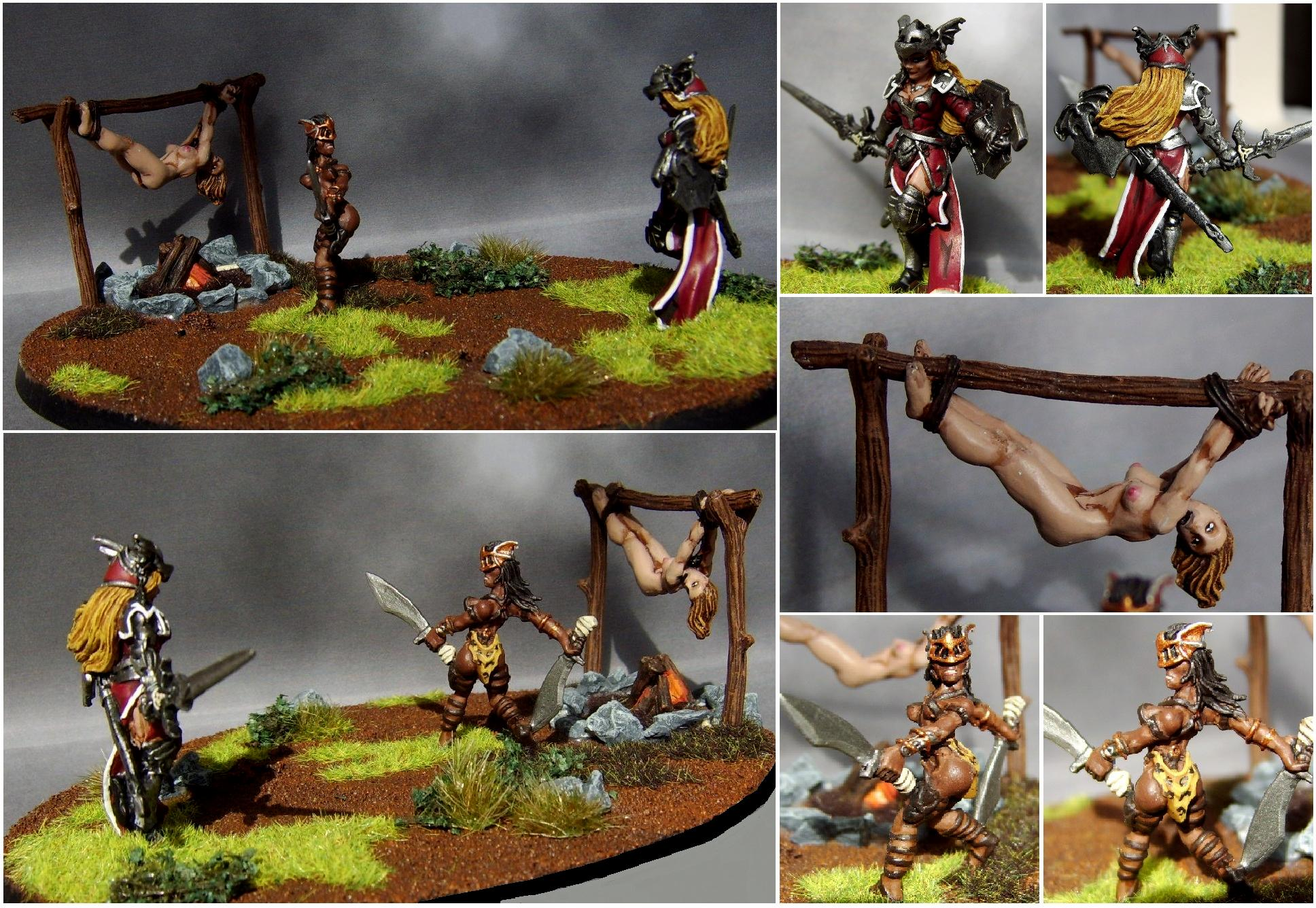 Captive, Diorama, Elves, Female, Nsfw, Reaper, Reaper Miniatures, Scenic, Sexy