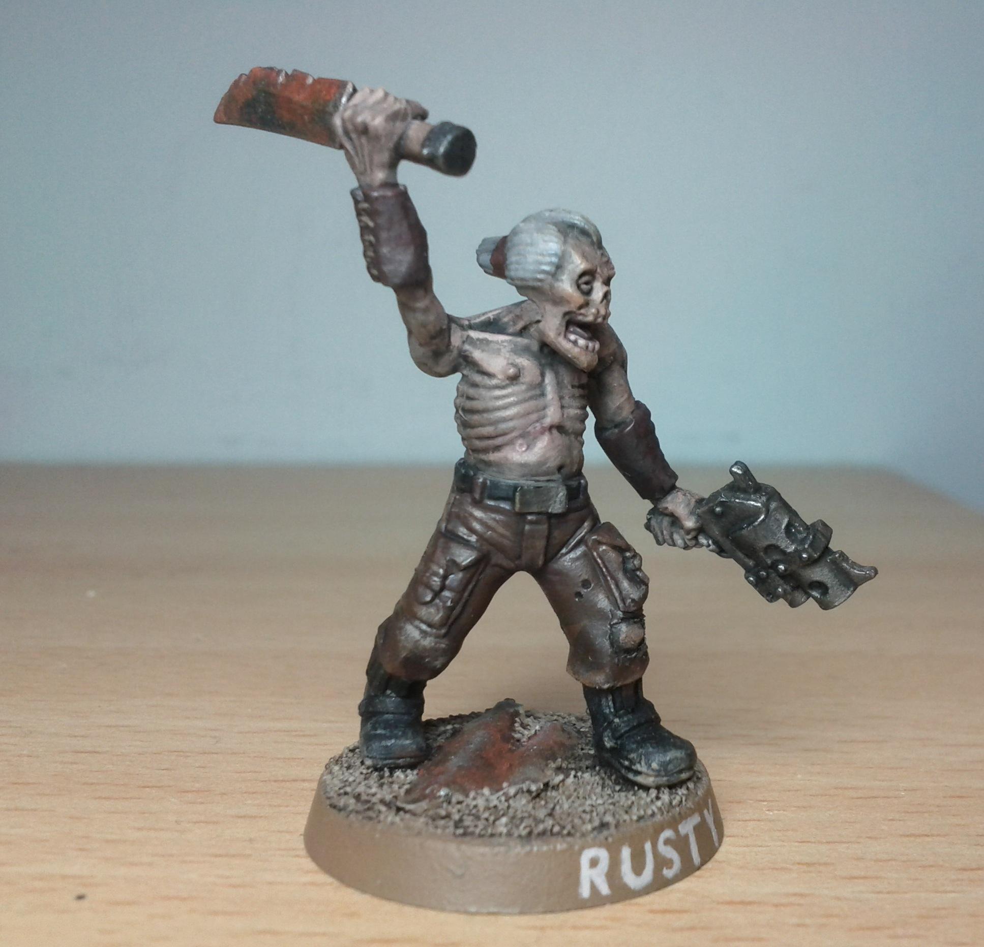 Fallout Zombie, Kit Bash, Warhammer 40,000